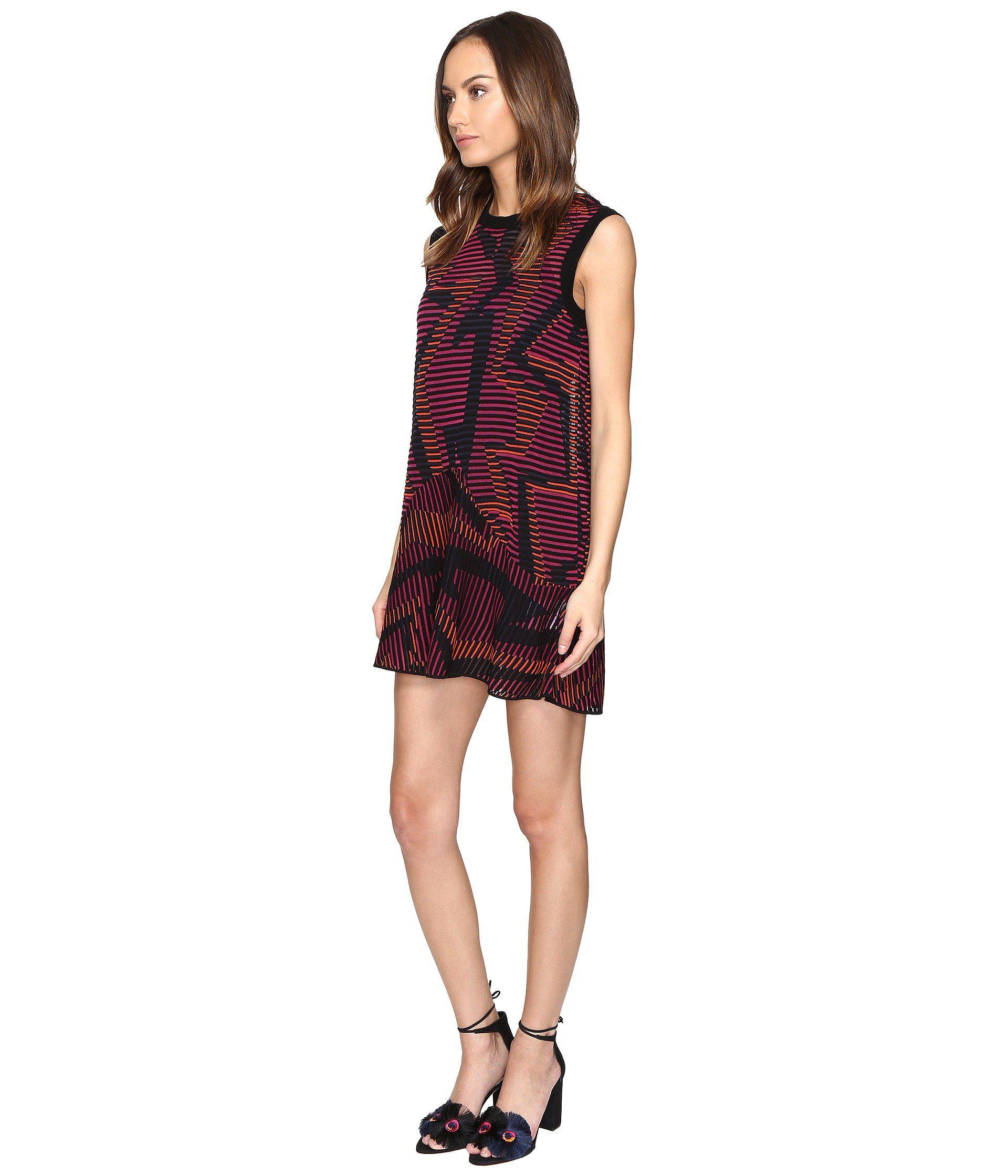 e8ec71216c81 Lyst - M Missoni Colorful Geo Knit Dress in Red - Save 20%
