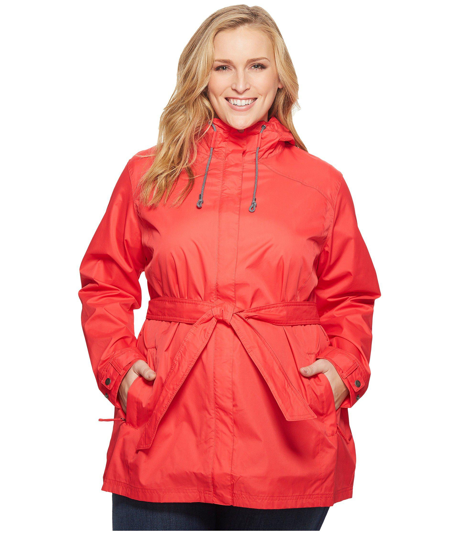 2826454781f Lyst - Columbia Plus Size Pardon My Trenchtm Rain Jacket in Red