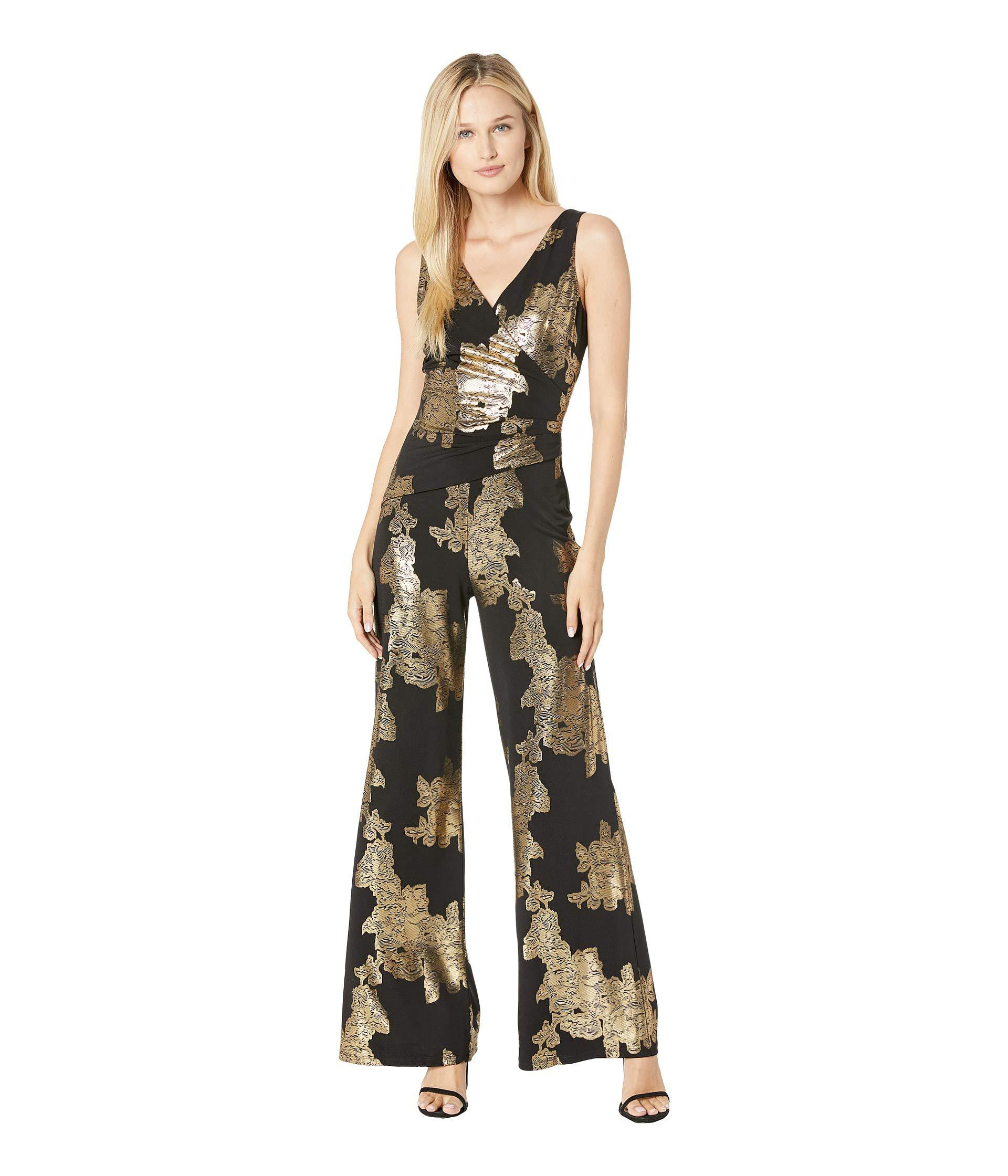 3974c435bf0 Lyst - Nine West Sleeveless Jumpsuit With Surplus Detail ...