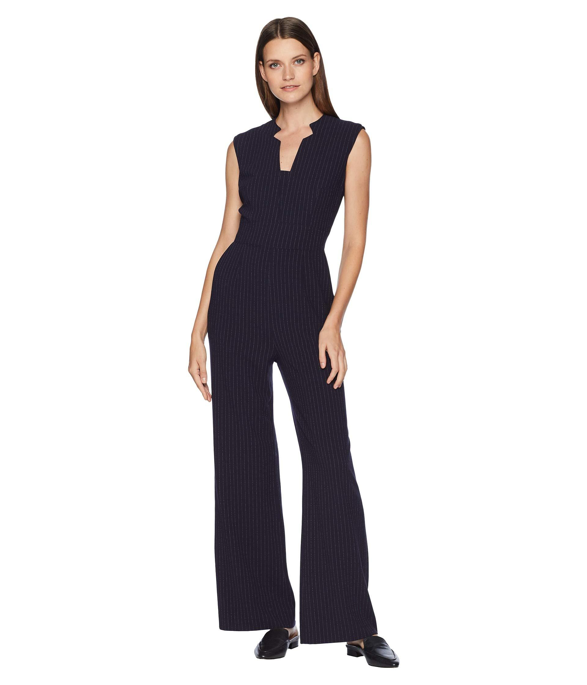 812886f1a41 Lyst - Tahari Sleeveless Pinstripe Crepe Jumpsuit With Star Neckline ...