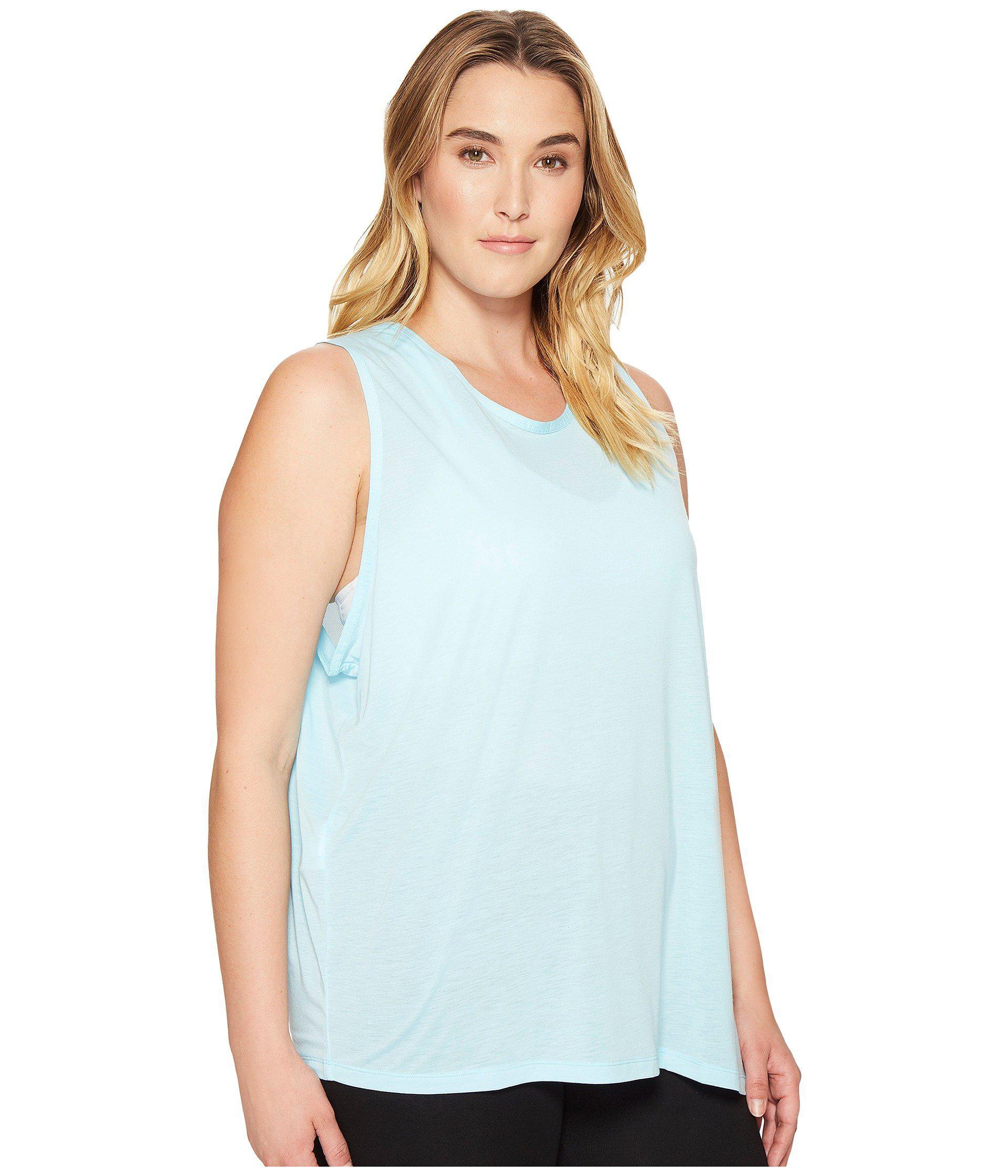 50c3f716f6f Nike - Blue Breathe Sleeveless Training Top (size 1x-3x) - Lyst. View  fullscreen