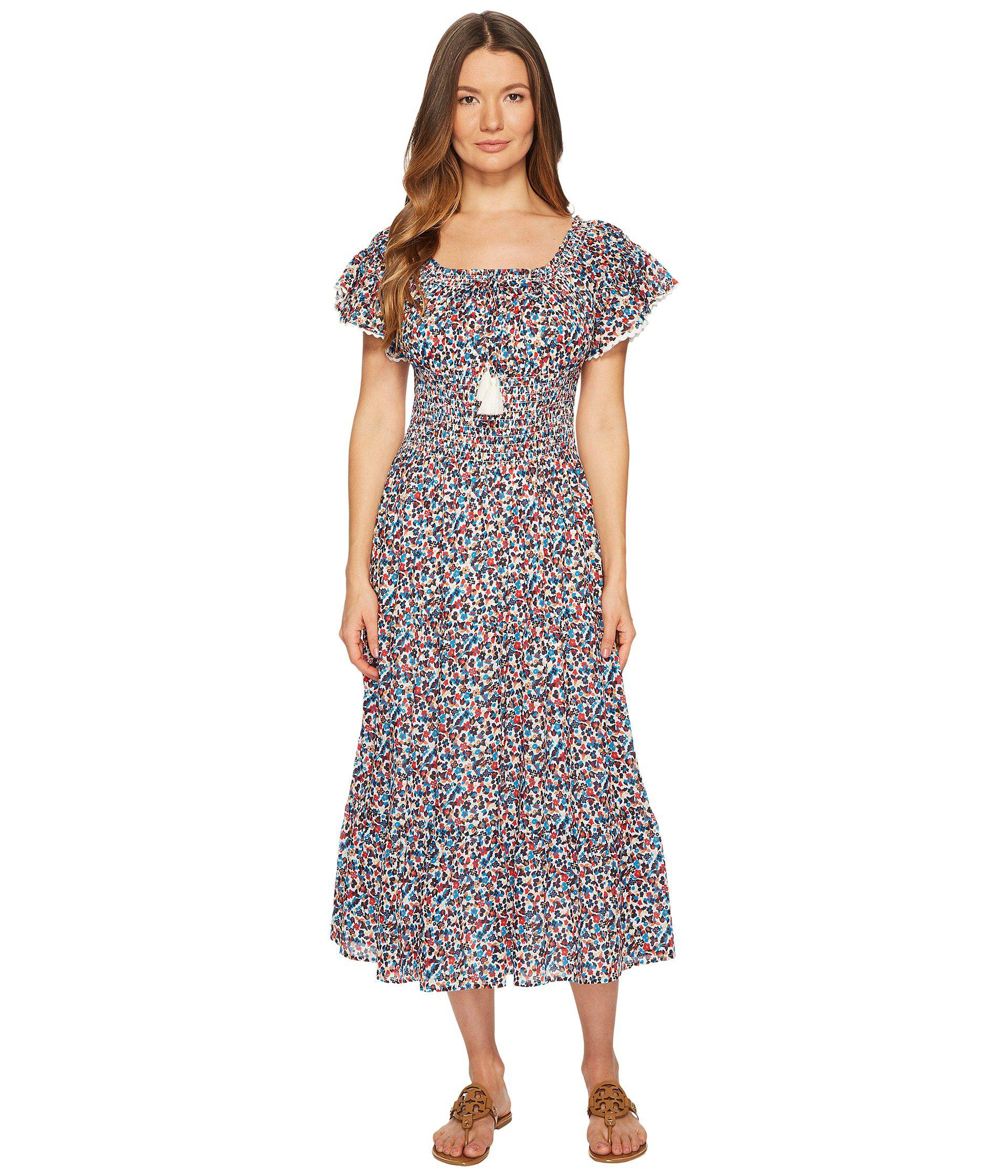 f149ef6bb322 Tory Burch Wildflower Smocked Dress Cover-up - Lyst
