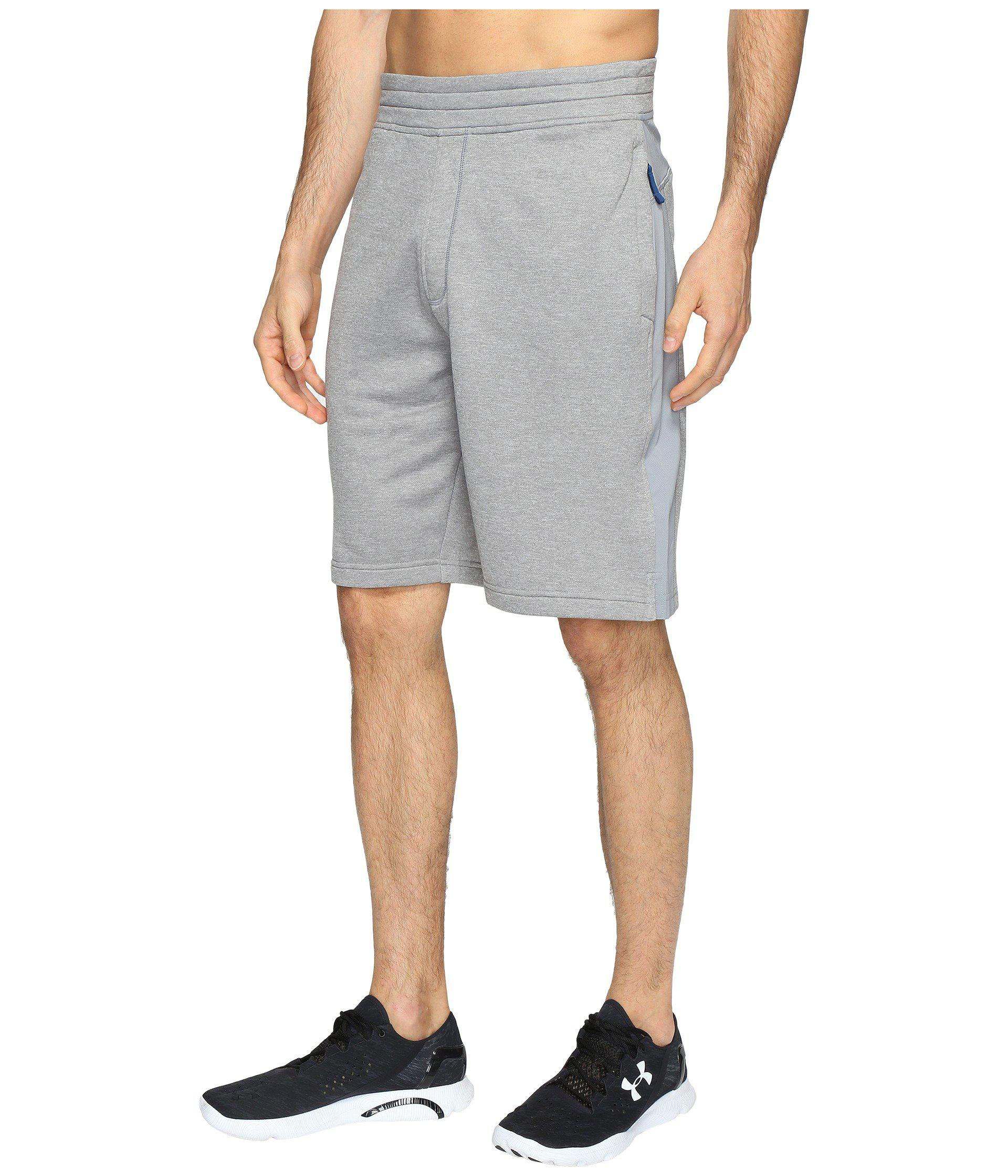 4a9365b9 Lyst - Under Armour Tech Terry Shorts in Gray for Men