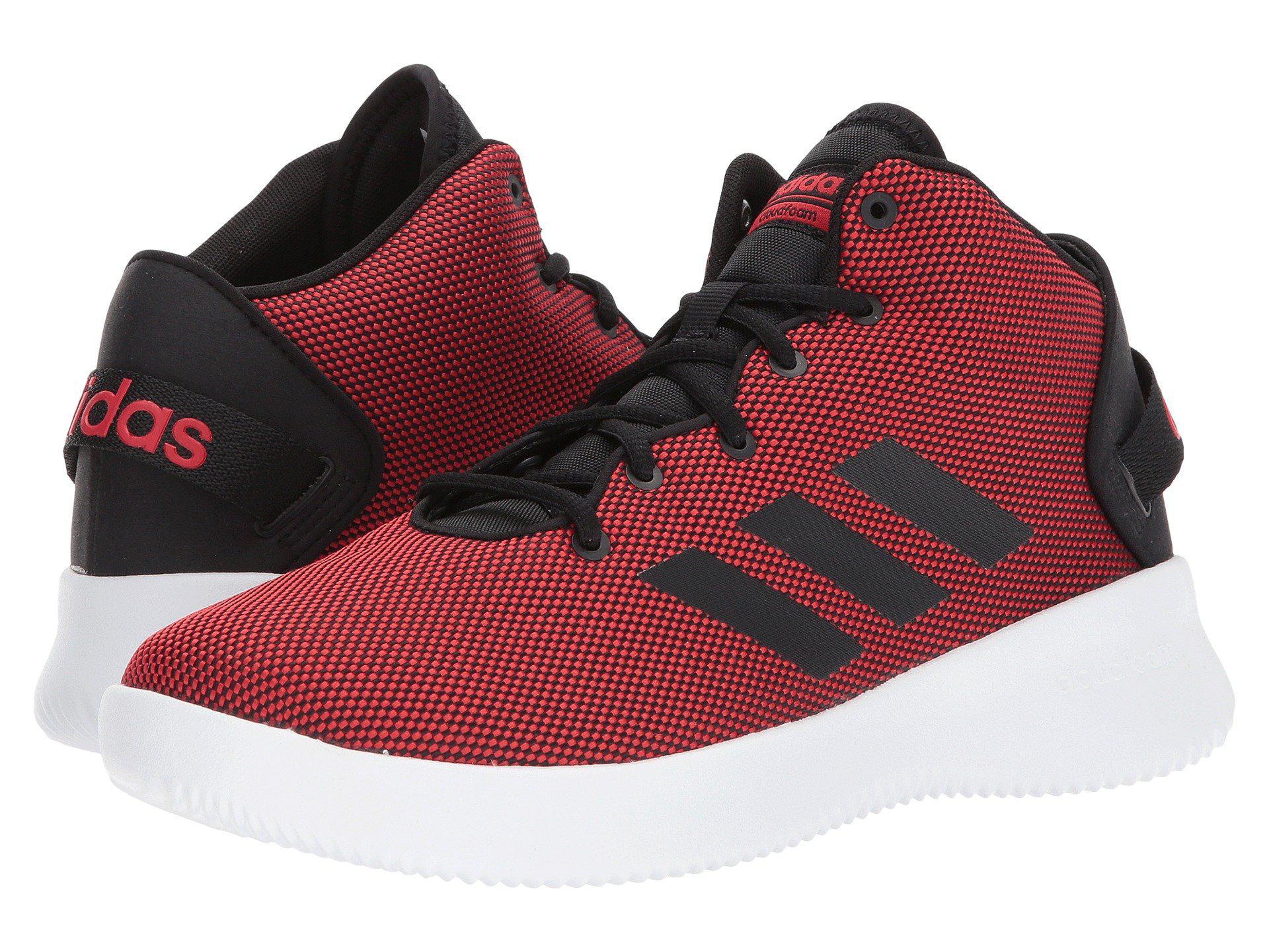 adidas cloudfoam red black