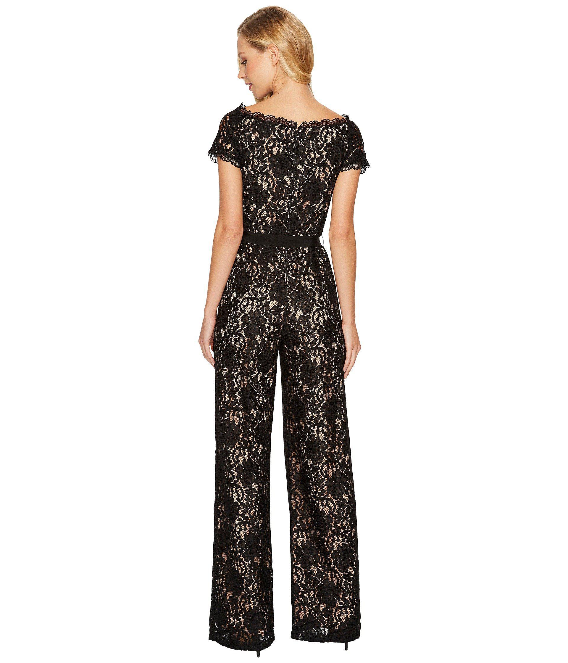 175b48ecdb87 Lyst - Adrianna Papell Juliet Lace Jumpsuit in Black