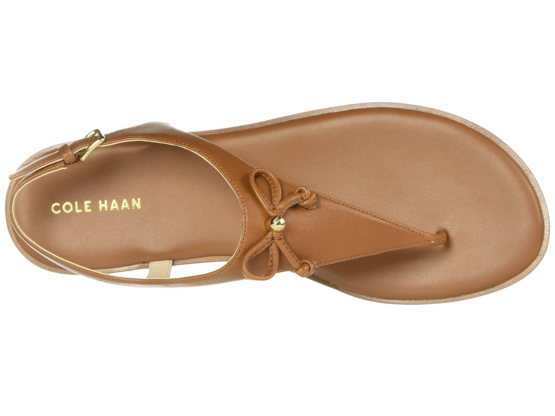5966ab077df Cole Haan - Brown Findra Thong Sandal - Lyst. View fullscreen