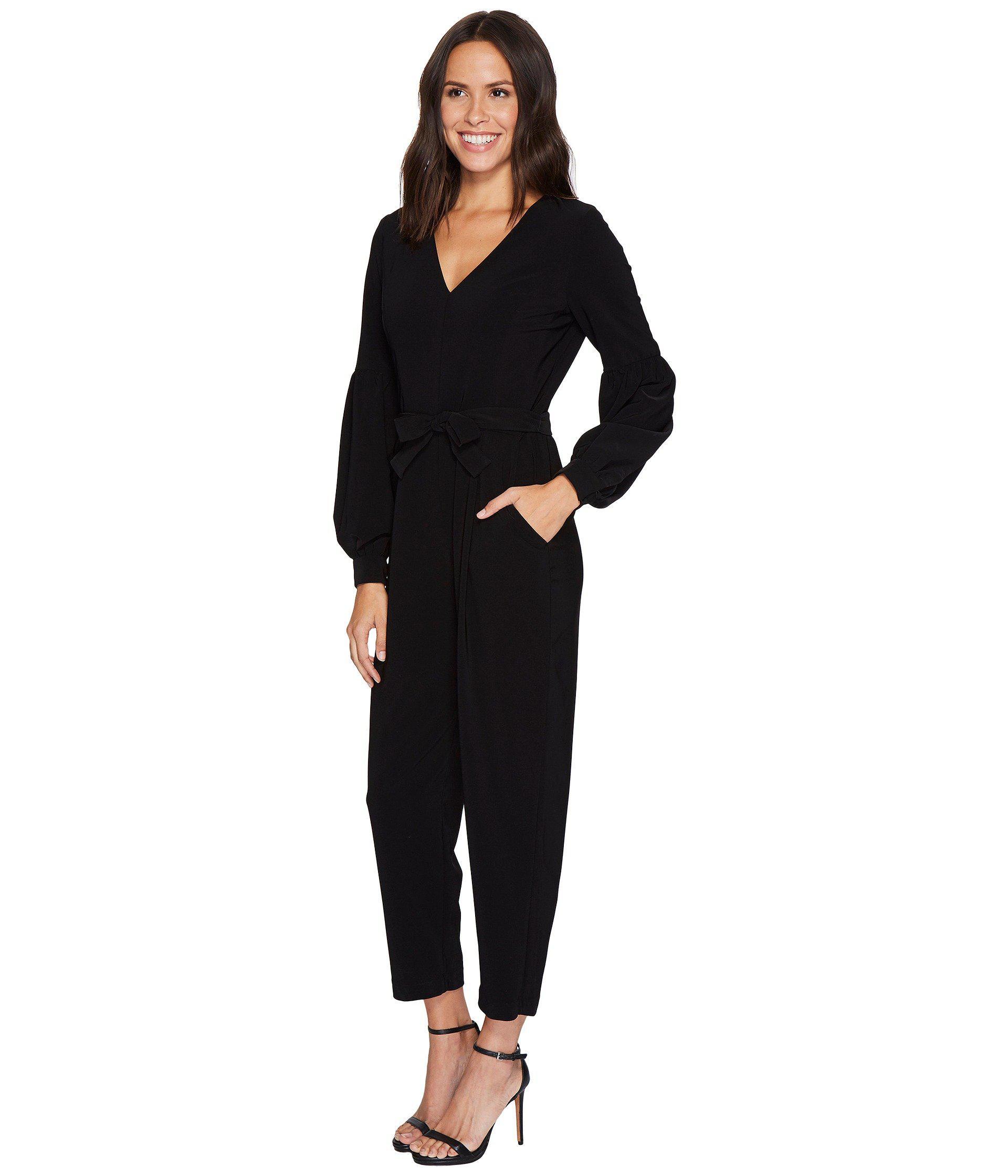 fc3722d28b0 Lyst - Maggy London Lantern Sleeve Ankle Jumpsuit in Black
