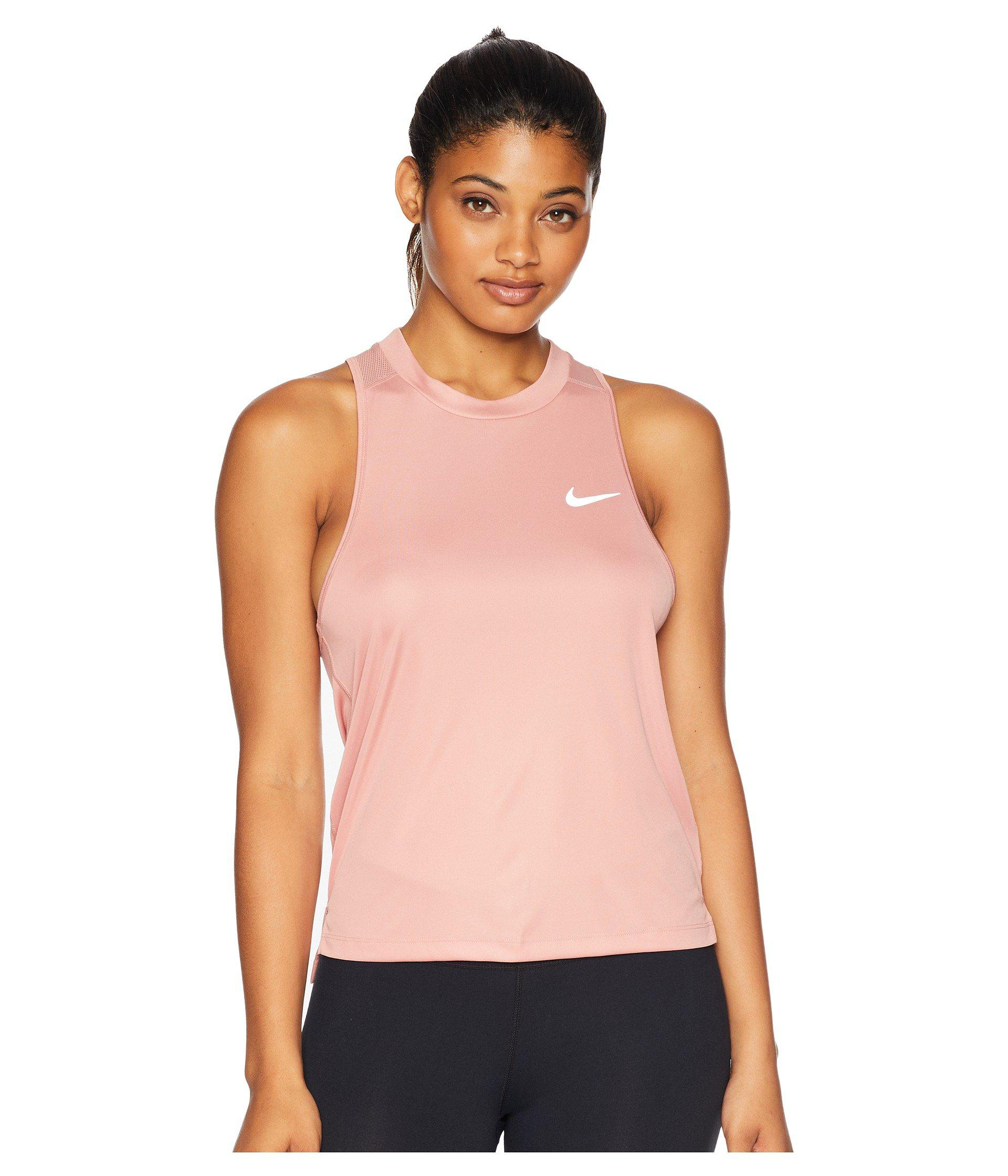 dc608428e3836 Lyst - Nike Dry Miler Running Tank in Pink - Save 8%