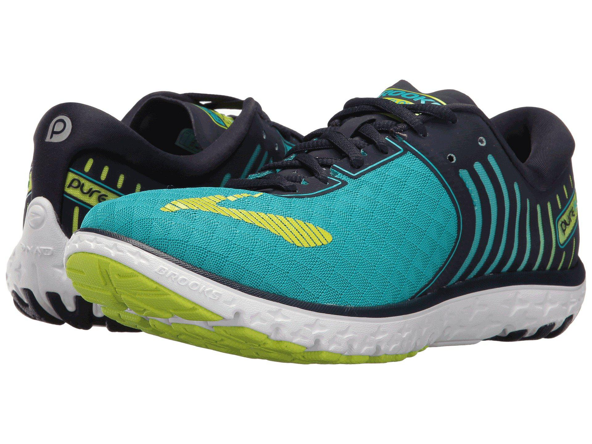 8 Brooks PureFlow 6 (W) -bluebird/peacoat/lime punch hT7wEh2F69