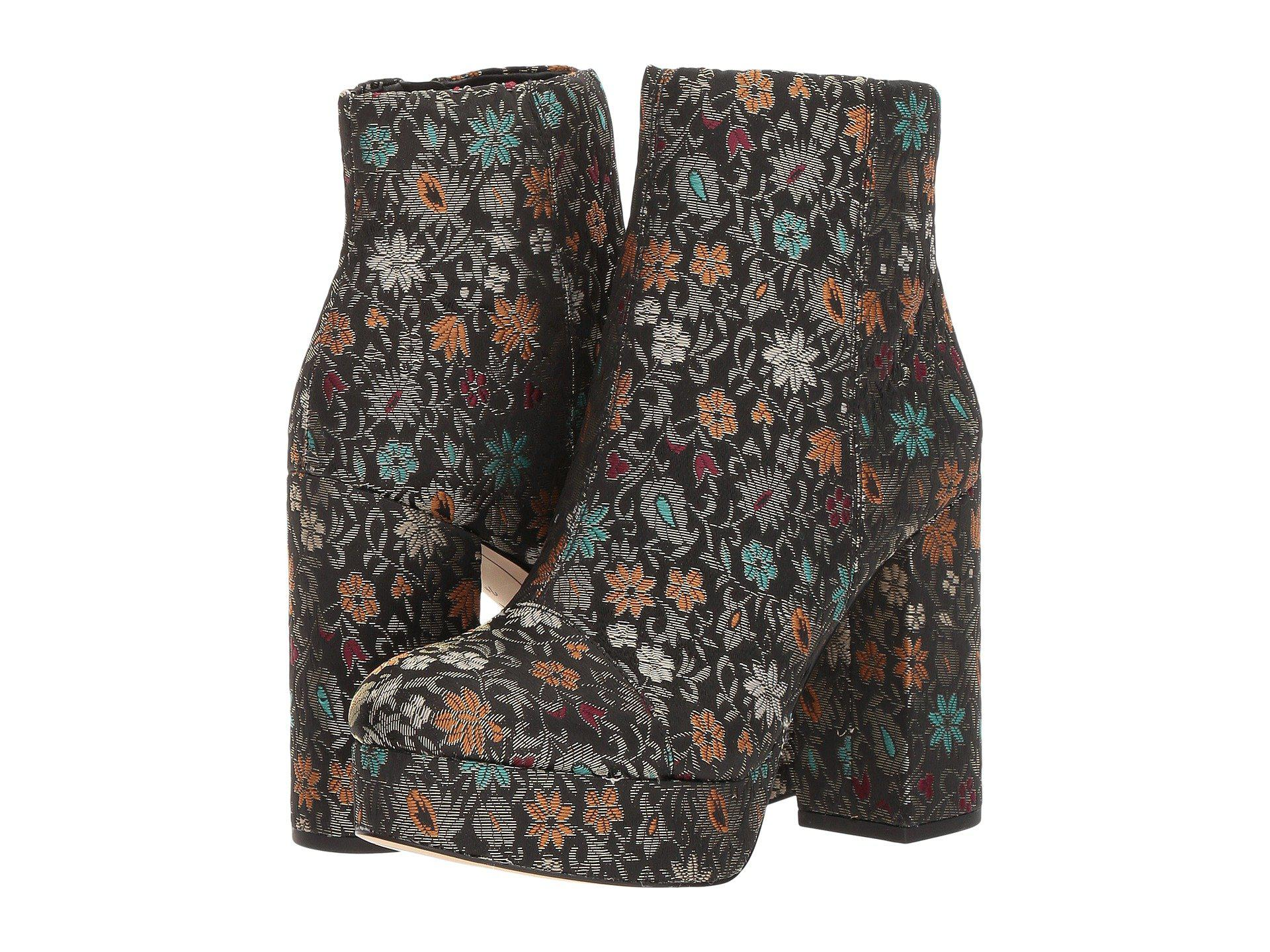 7ccd5687b048b3 Lyst - Sam Edelman Azra Floral Brocade Booties in Black - Save 66%