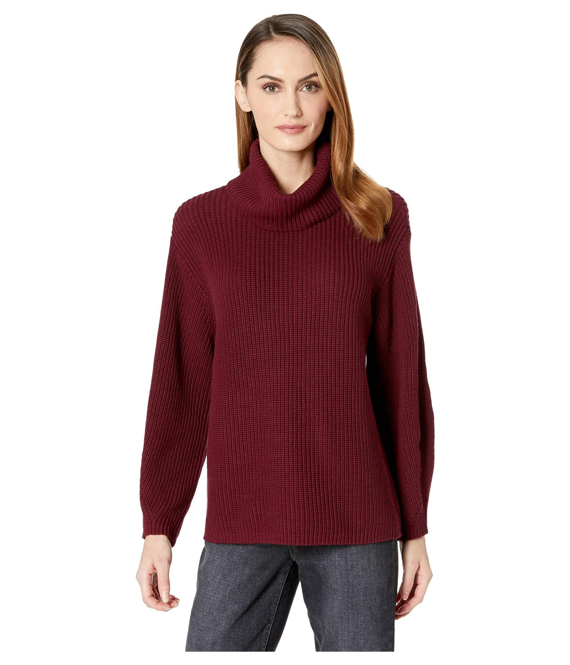 e5fd85a8f44e9 Vince Camuto. Women's Red Long Sleeve Rib Turtleneck Slouchy Sweater
