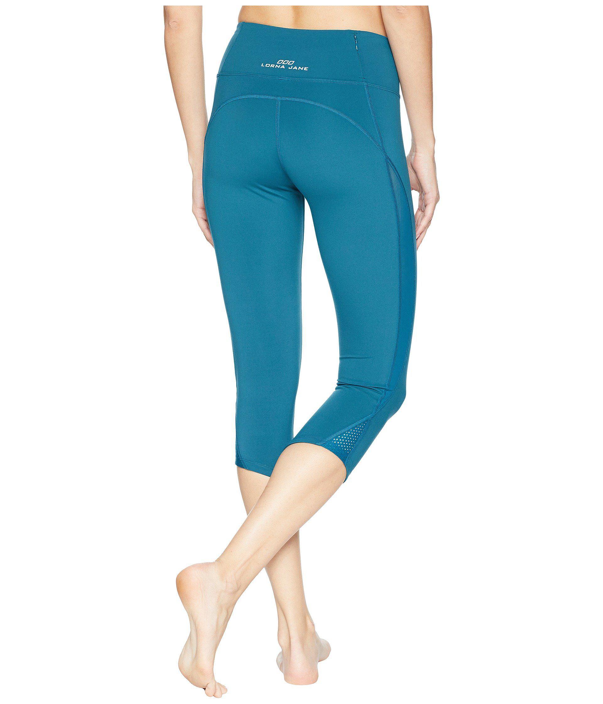 e3348c3f6149c Lyst - Lorna Jane Infinity Core 7 8 Tights in Blue