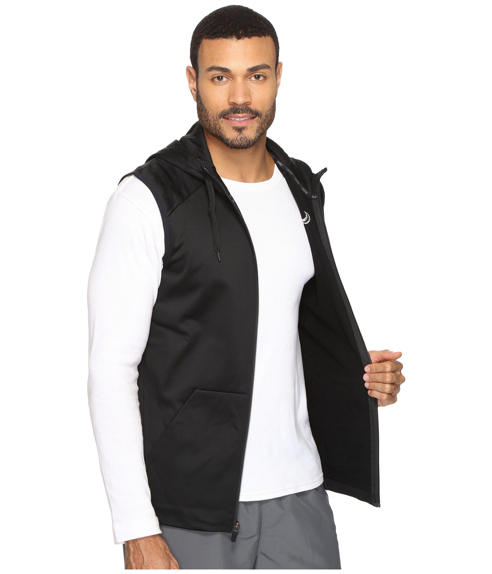 Therma For Sleeveless In Full Swoosh Black Lyst Hoodie Men Nike Zip CaqzwZwnfx