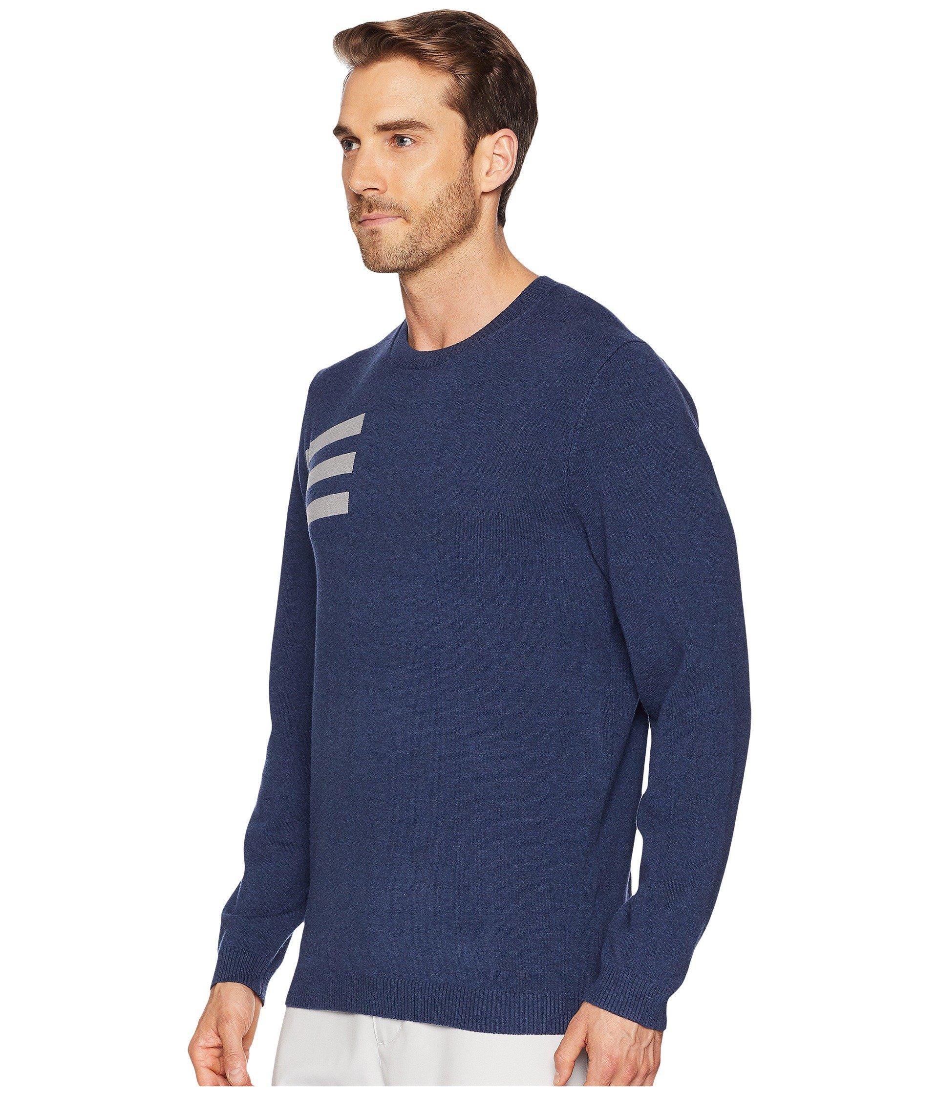 91ed34bd2 Lyst - adidas Originals 3-stripes Crew Neck Sweater in Blue for Men - Save  15%