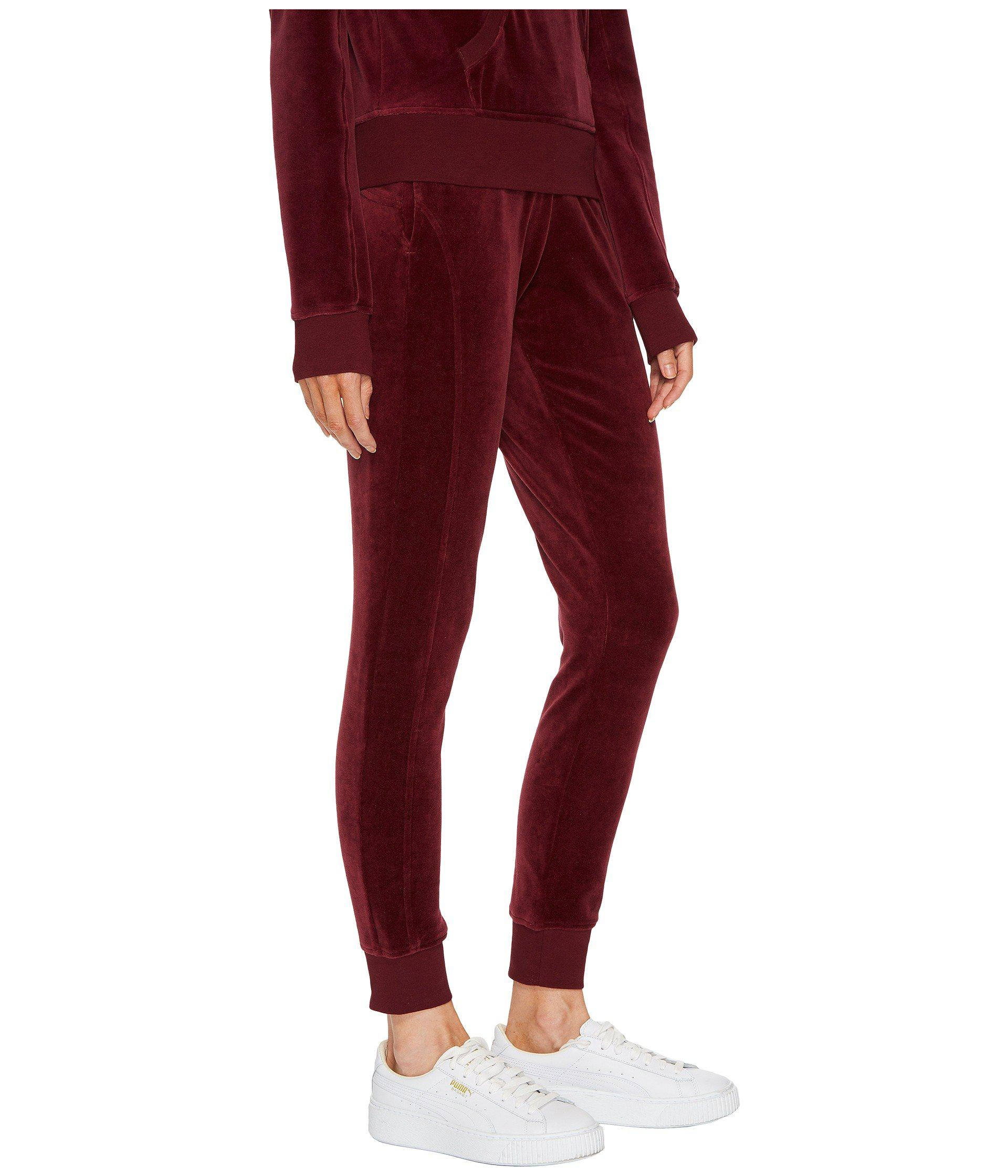 5906cd813d1c Lyst - PUMA X Fenty By Rihanna Velour Fitted Track Pants in Red ...
