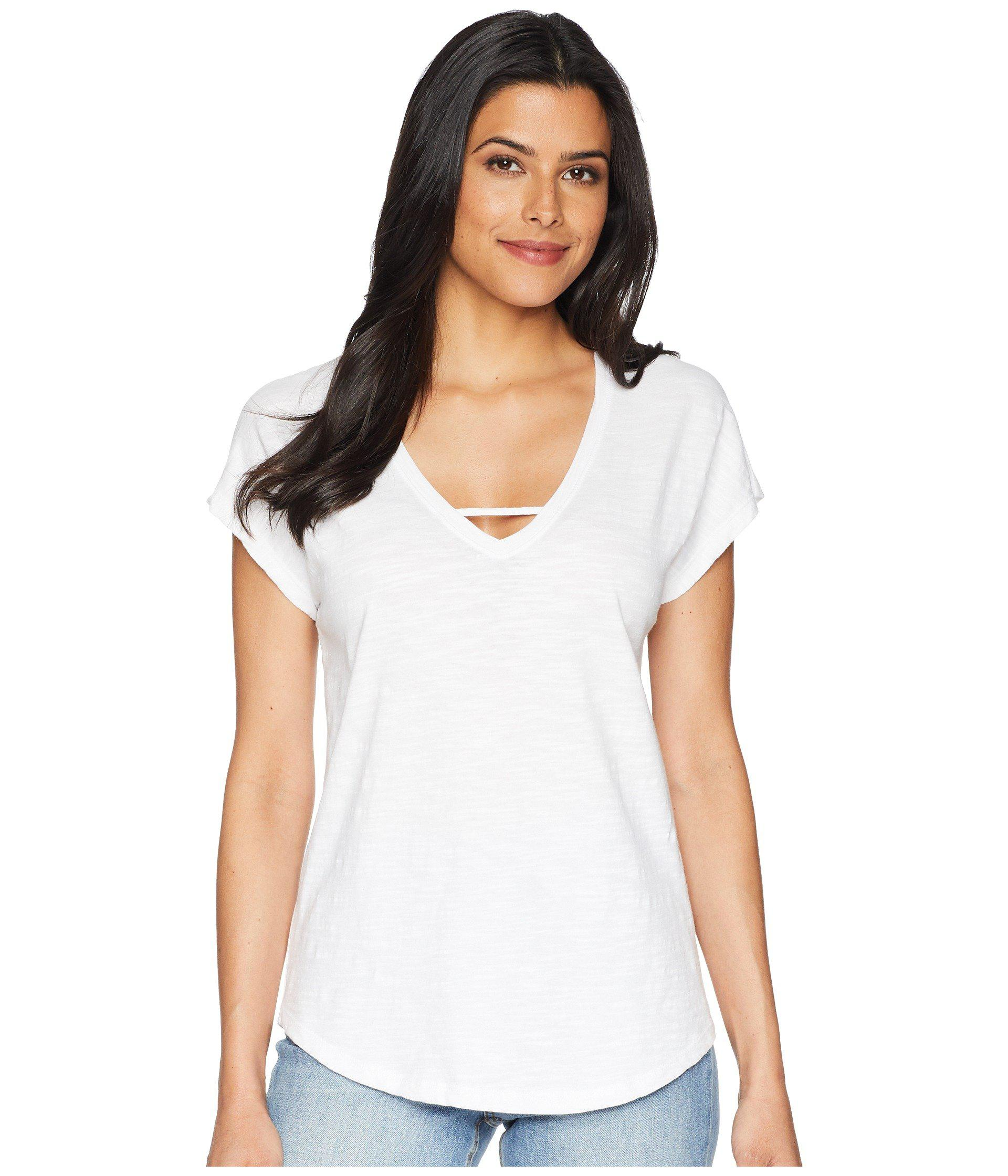 d339b8aeb Lyst - Lilla P V-neck Dolman in White - Save 44%