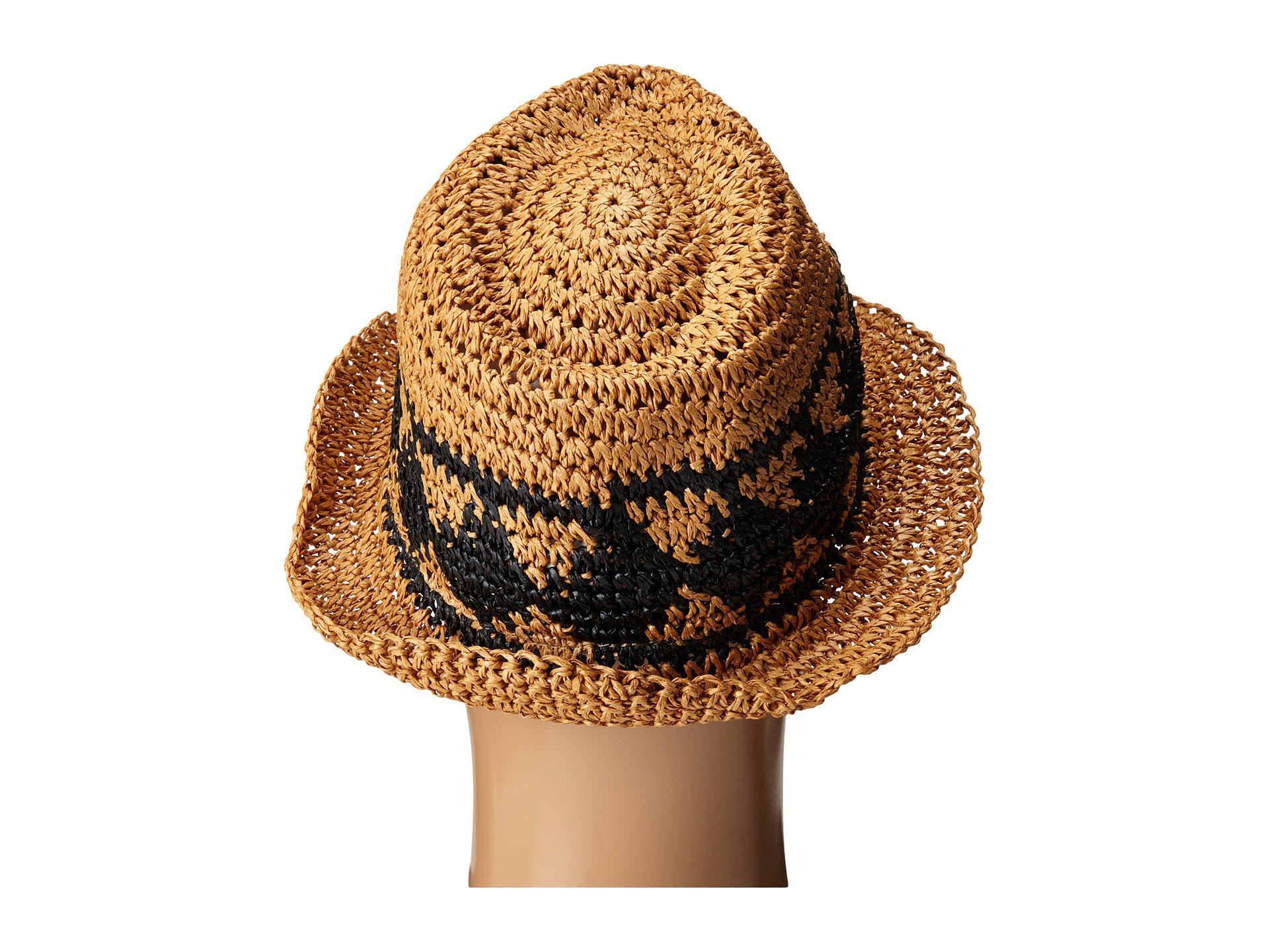 02534cbed01f7 Lyst - Volcom Ibiza Straw Fedora in Brown