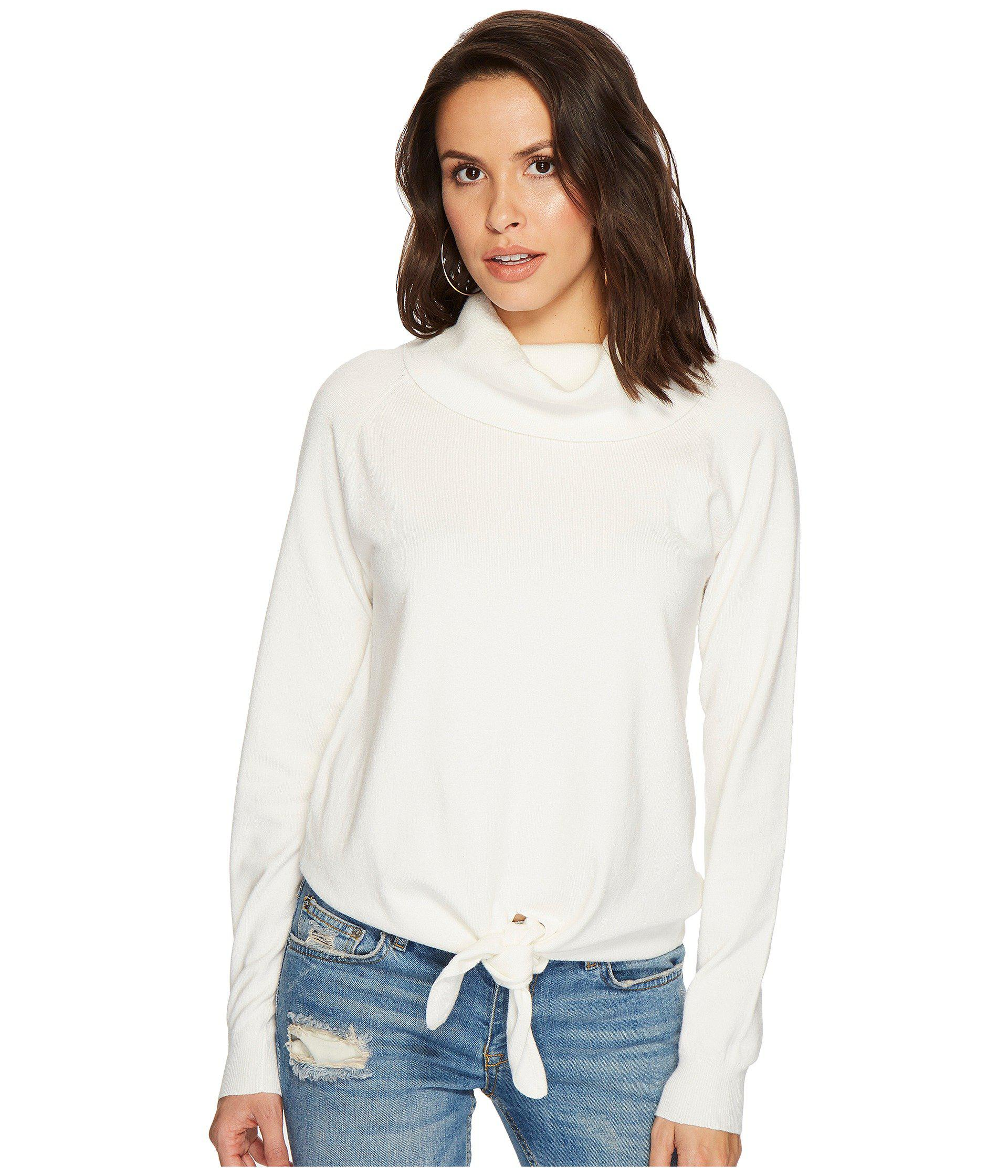 9cbd074478979 Lyst - Bishop + Young Front Tie Sweater in White - Save 58%