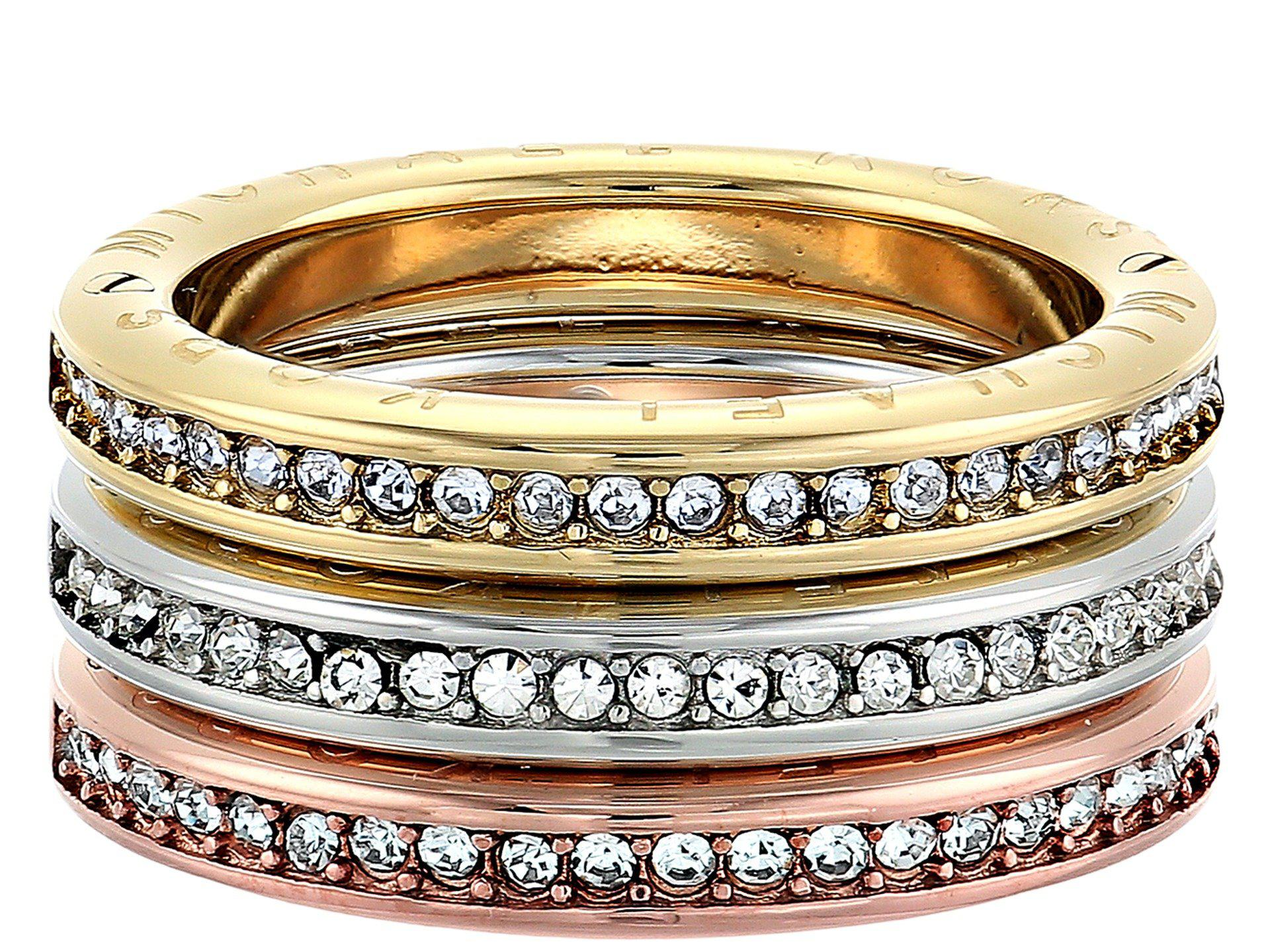 rings in product barrel tritone kors michael jewelry normal tone tri lyst metallic ring gallery