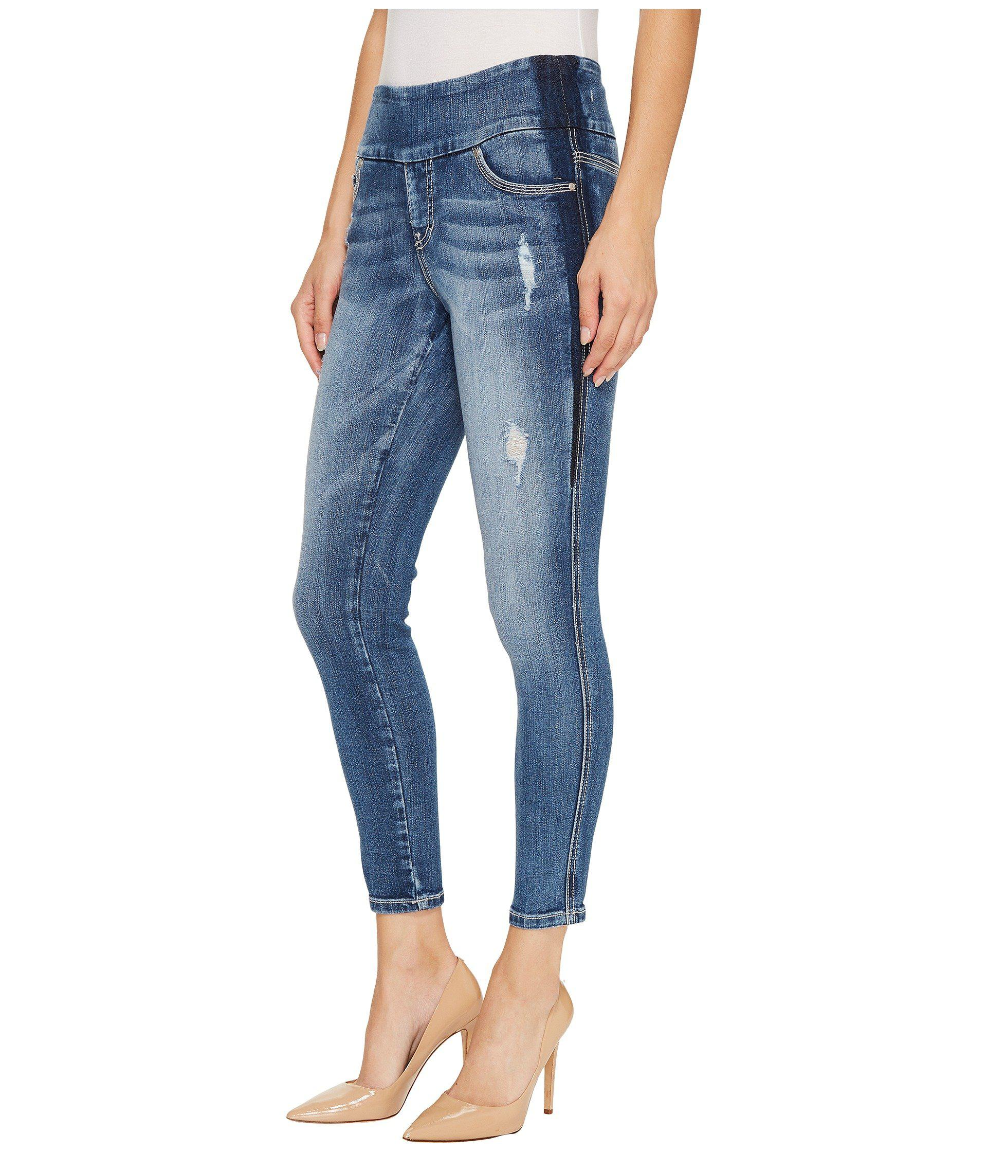 d01e0862fc83 Lyst - Jag Jeans Nora Marta Pull-on Skinny Ankle Surrel Denim In River Wash  With Color Block in Blue - Save 29%