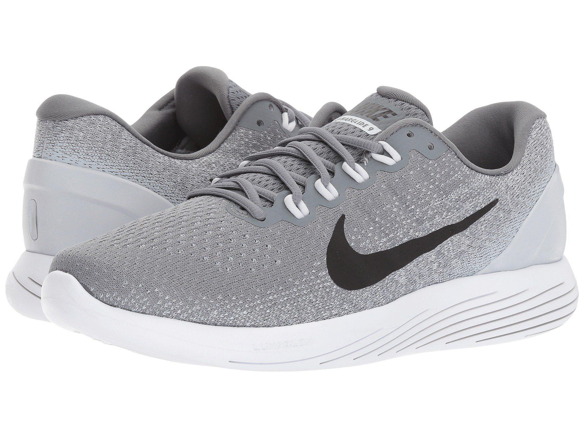 Nike PerformanceLUNARGLIDE 9 - Stabilty running shoes - black hR9ItNvO