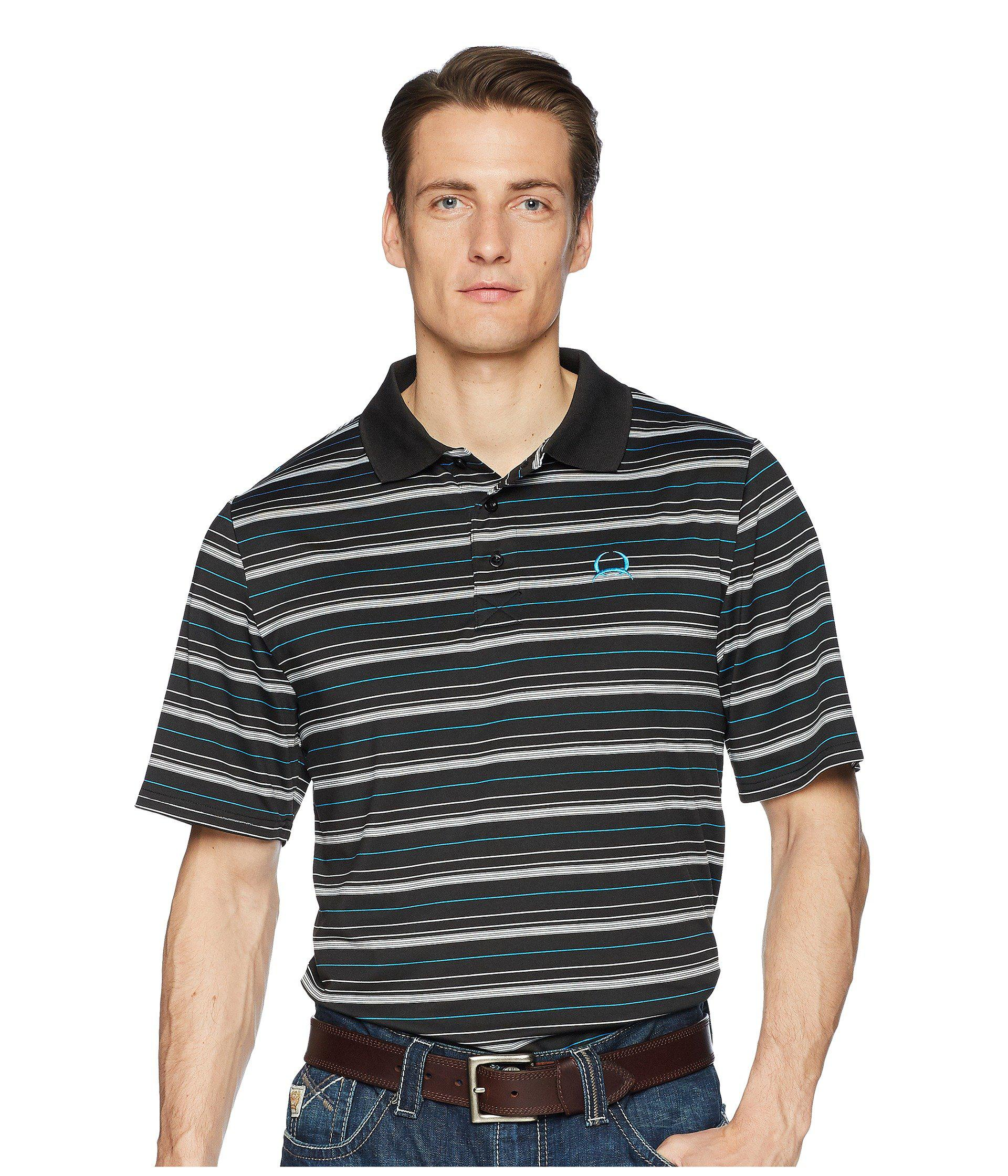 0f457316 Lyst - Cinch Athletic Tech Polo Striped in Black for Men