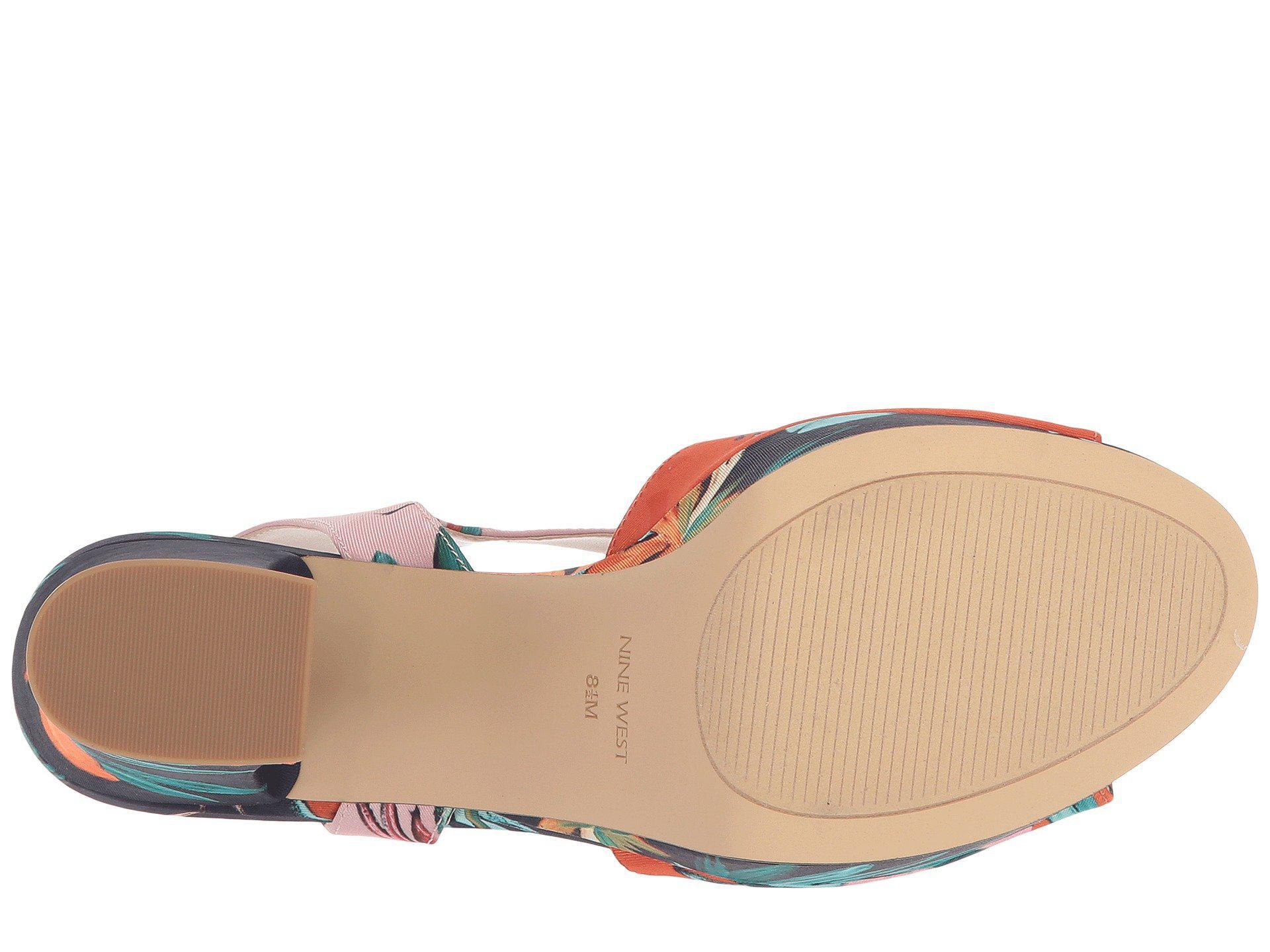 7bd3c0544c79 Nine West - Multicolor Wilmarie Platform Heel Sandal - Lyst. View fullscreen