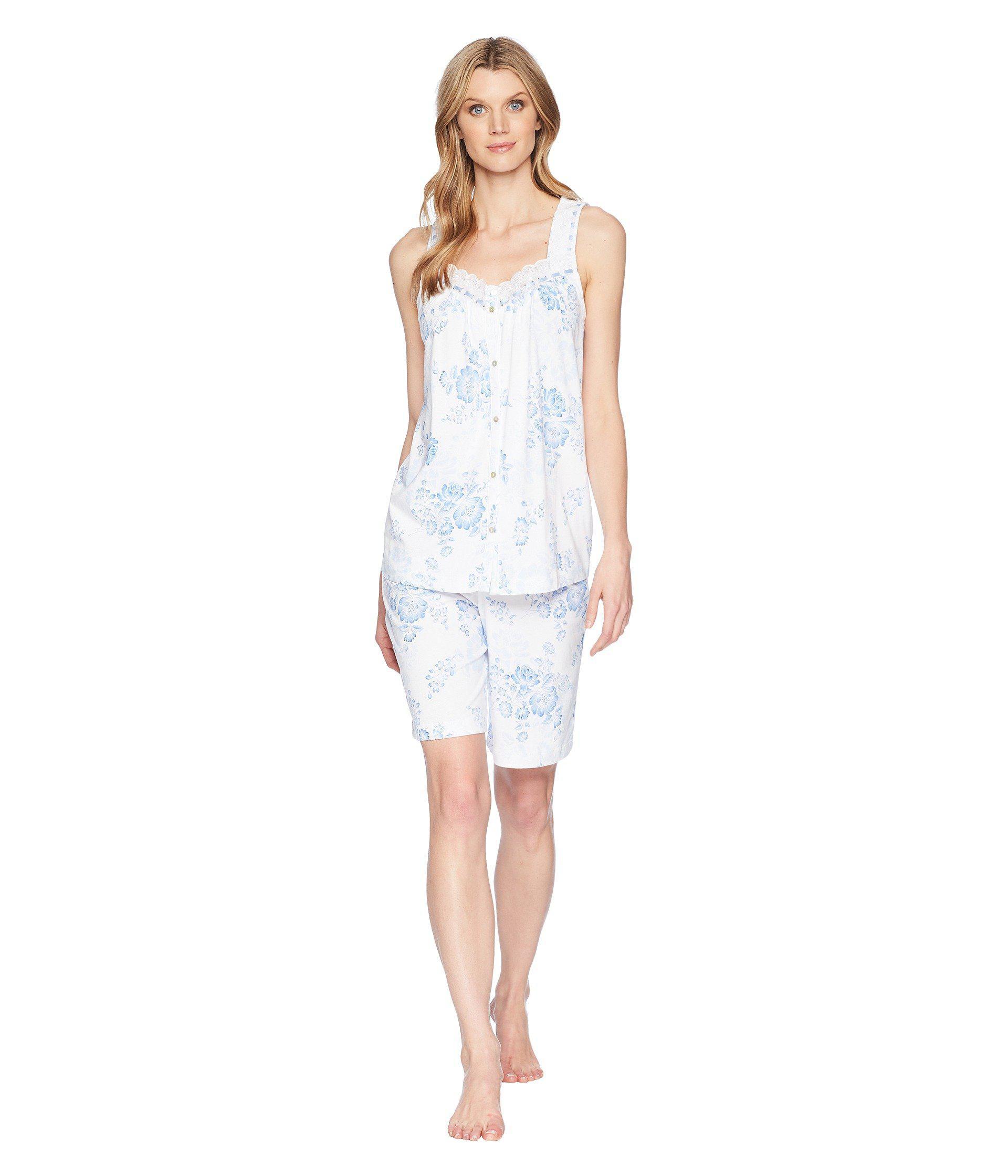 Lyst - Carole Hochman Bermuda Pajama Set in White - Save 29% 3c97e66b8