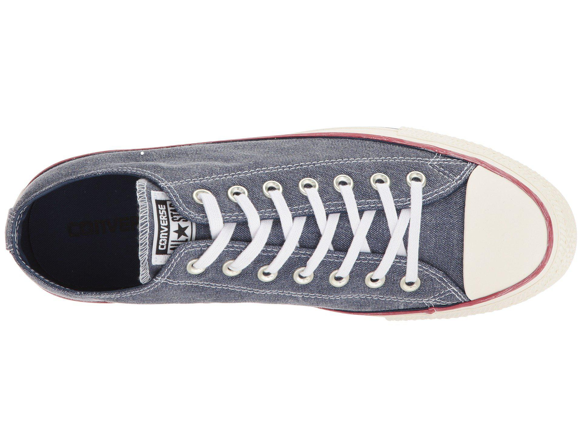 06c464aec983 Lyst - Converse Chuck Taylor® All Star Stone Wash Canvas Ox in Blue