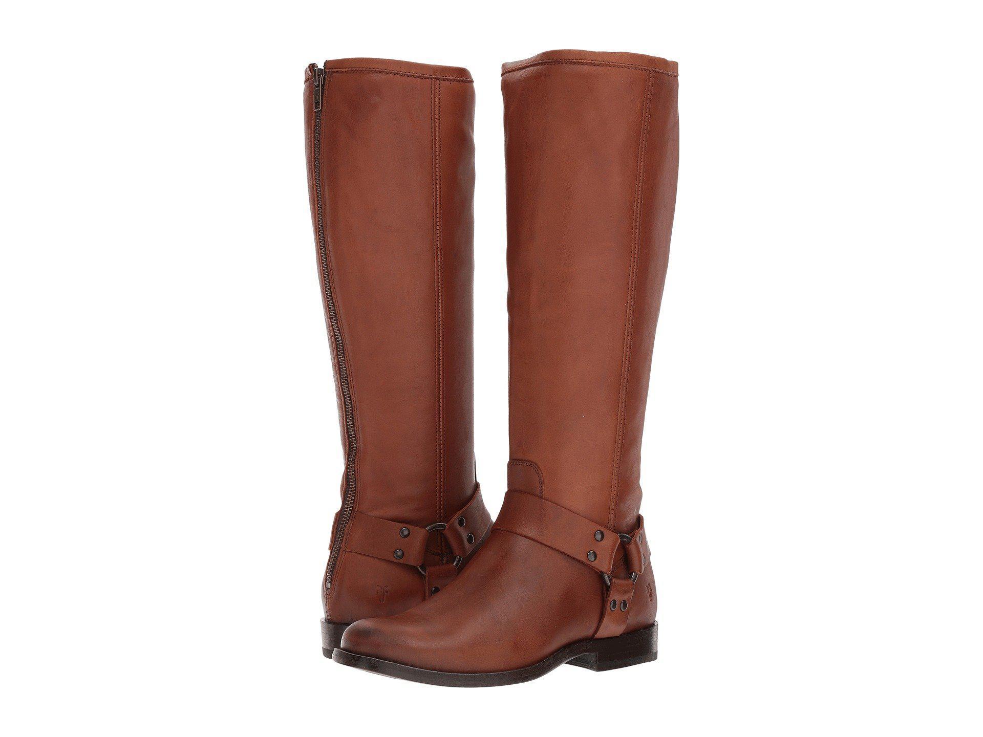 frye Cognac Waxed Veg Calf Phillip Harness Tall lyst frye phillip harness tall (cognac) women's first walker shoes