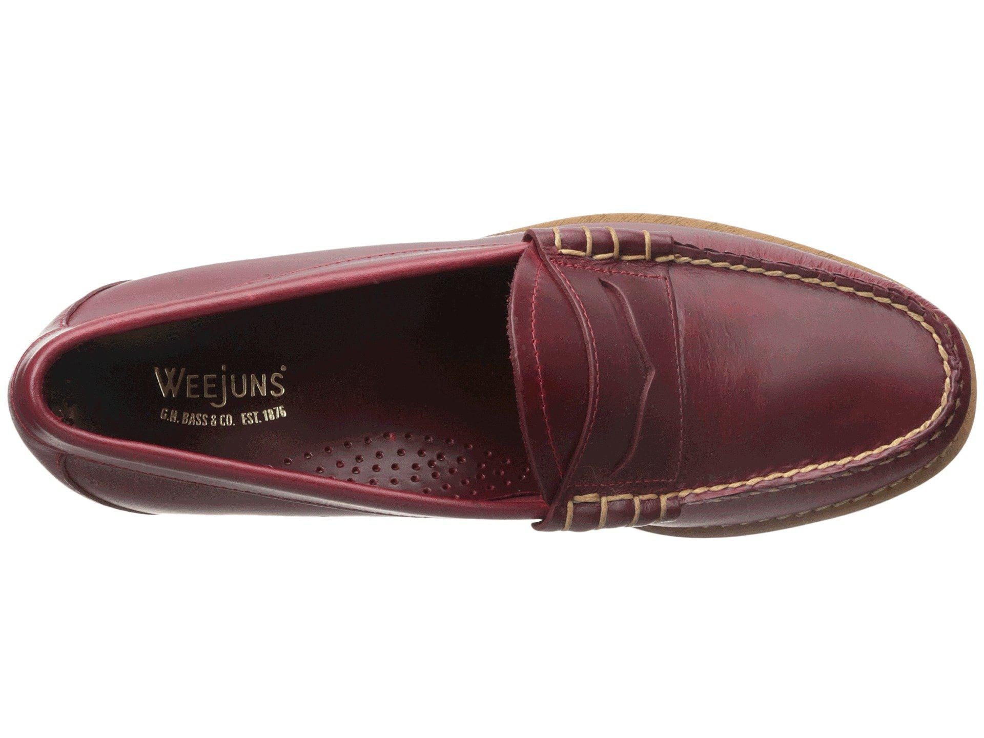 7b365a4eef6 G.H.BASS - Red Larson Weejuns for Men - Lyst. View fullscreen