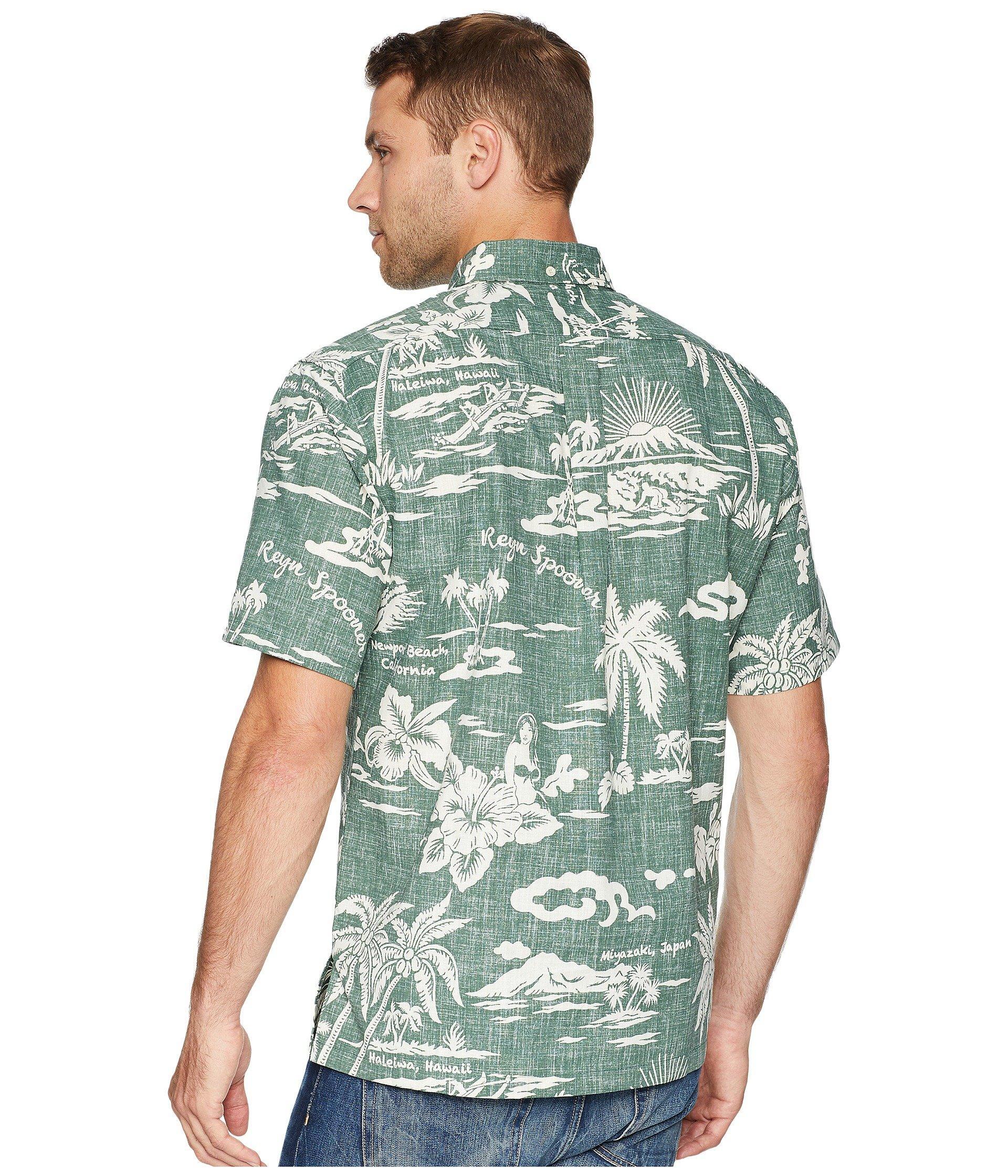 52fe3b21 Reyn Spooner - Green My Private Isle Classic Fit Aloha Shirt for Men -  Lyst. View fullscreen