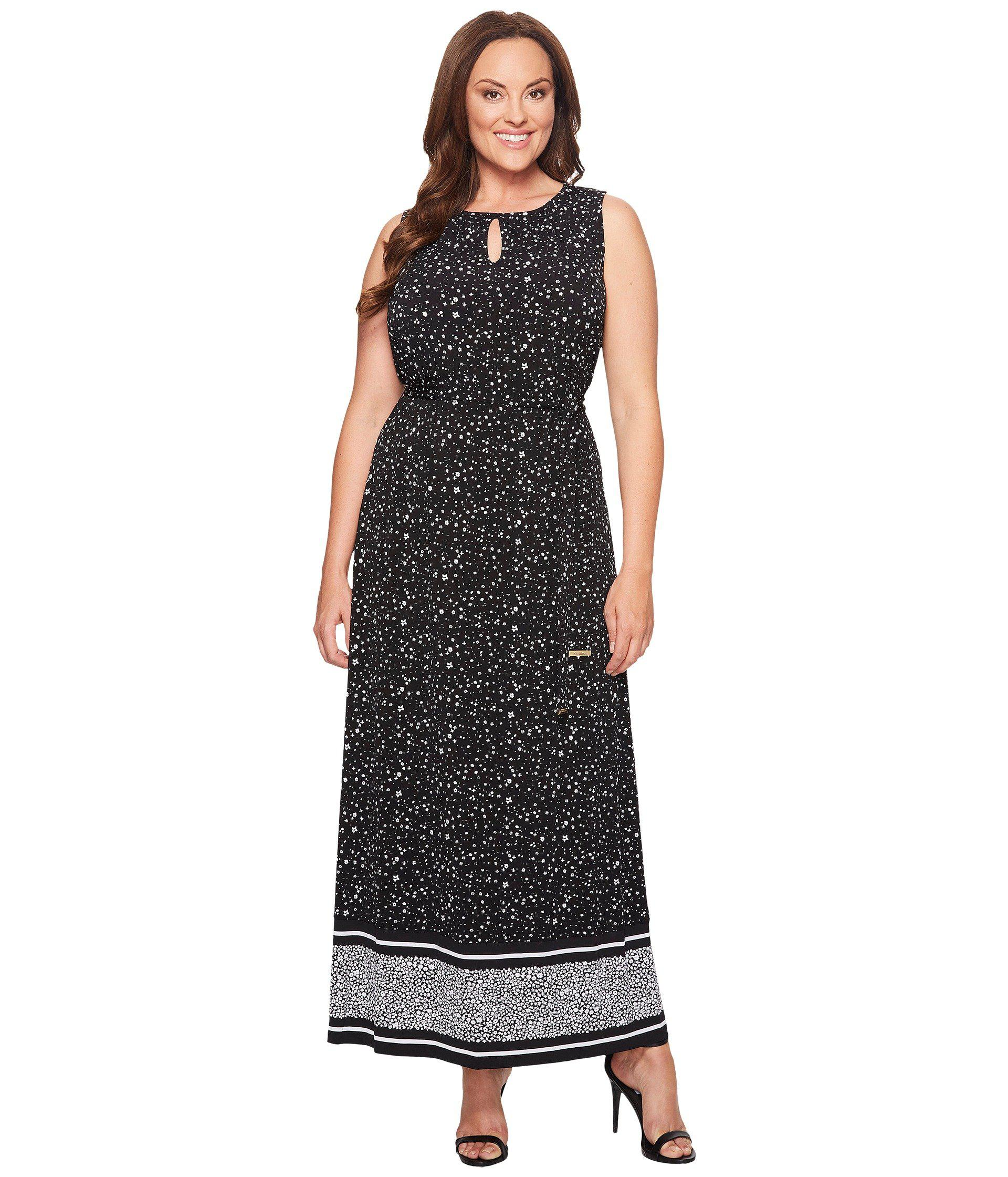 817a05c057b Lyst - MICHAEL Michael Kors Plus Size Nora Border Maxi Dress in Black