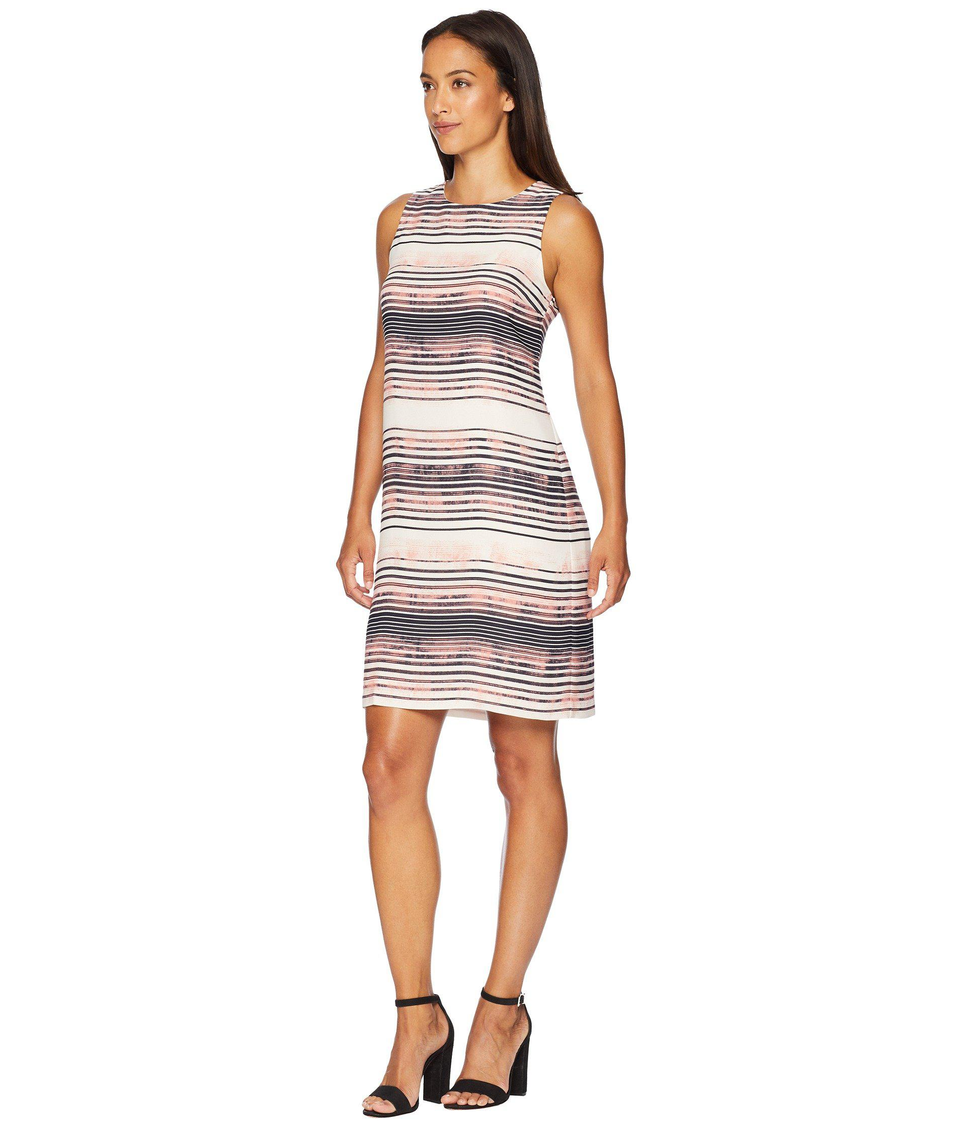 2d371f2002890c Lyst - Vince Camuto Sleeveless Ancient Muses Shift Dress - Save 49%