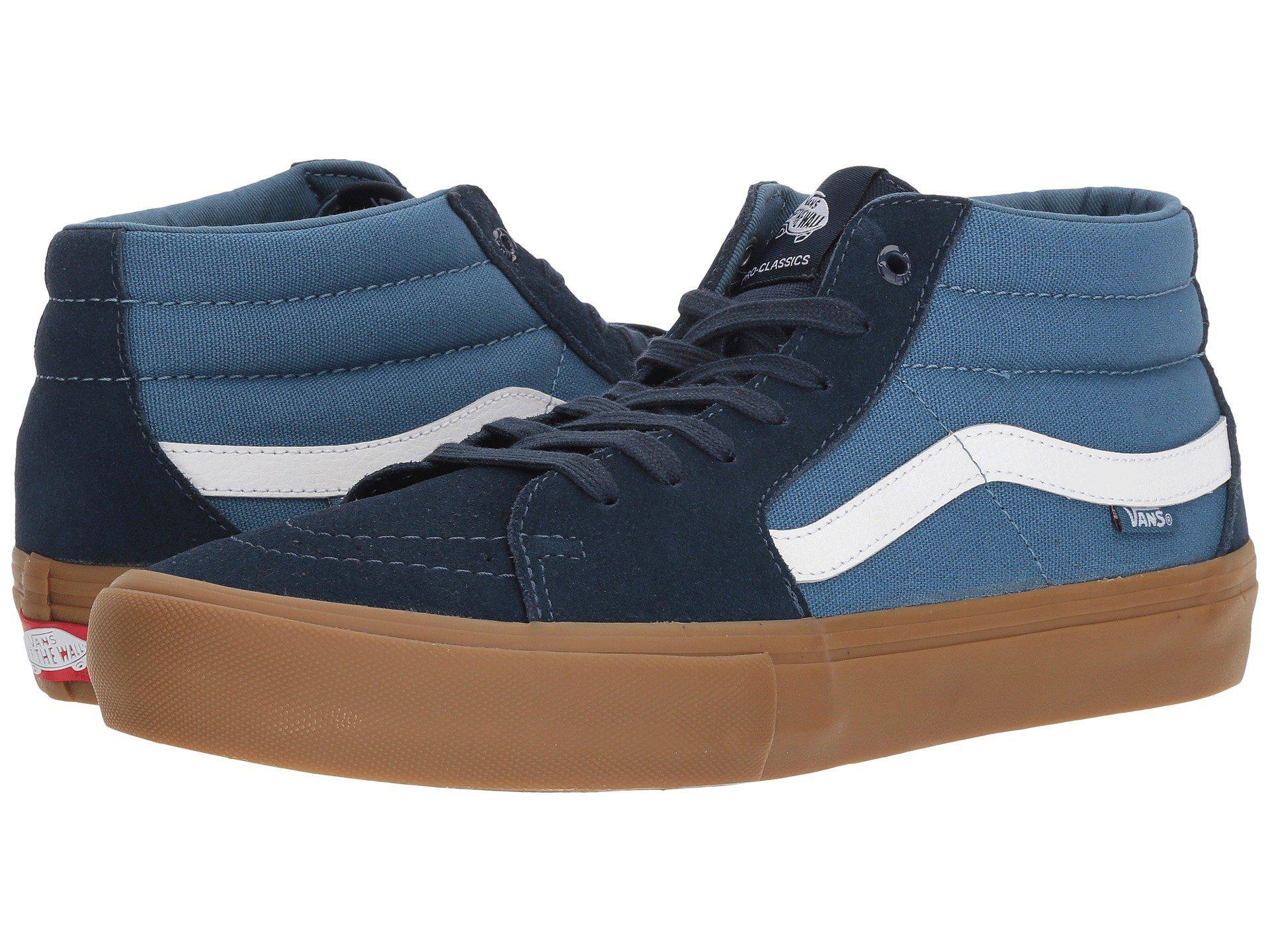 f0b76897e7e29e Lyst - Vans Sk8-mid Pro in Blue for Men