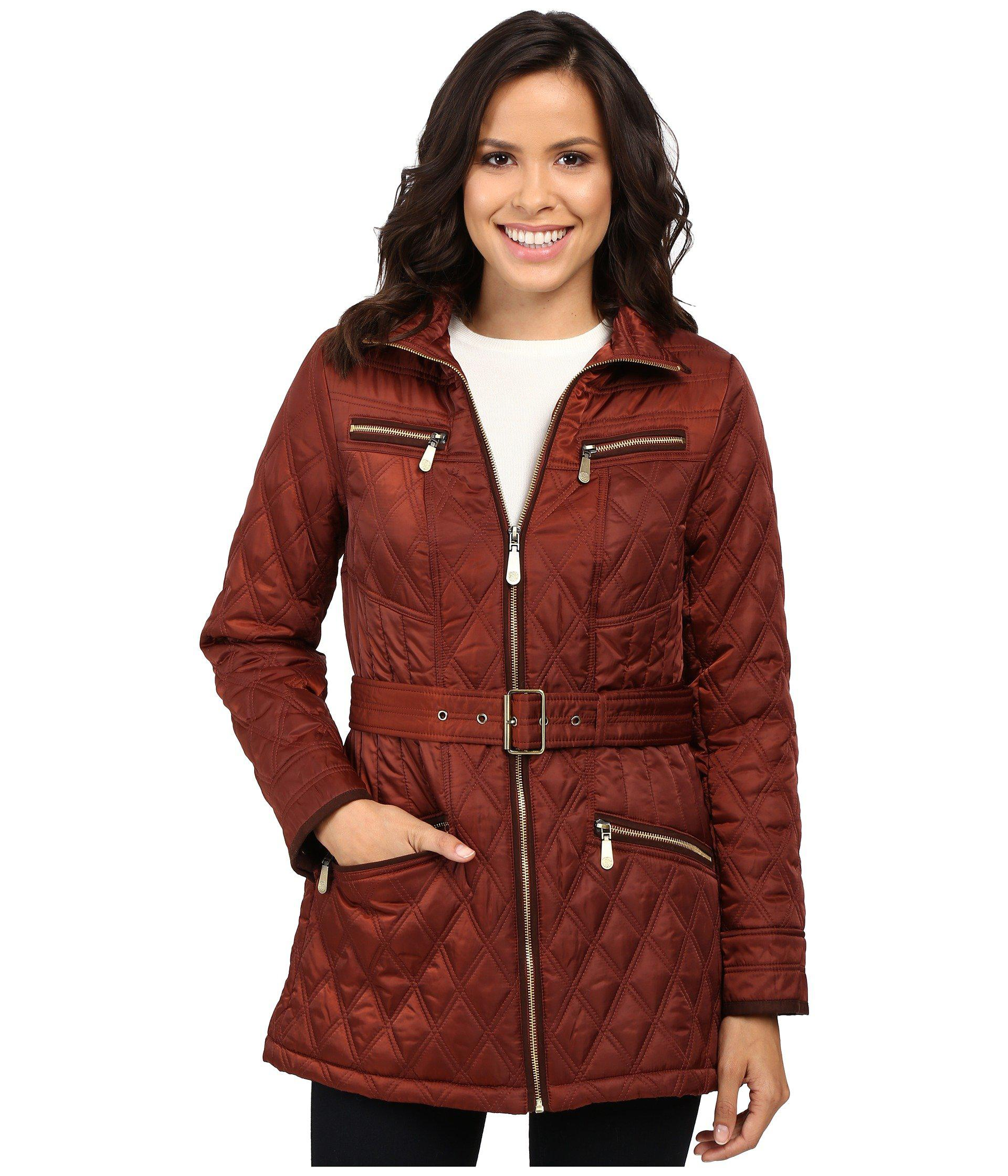 fullscreen clothing suede with quilted detail faux quilt vince camuto jacket lyst contrast view navy blue