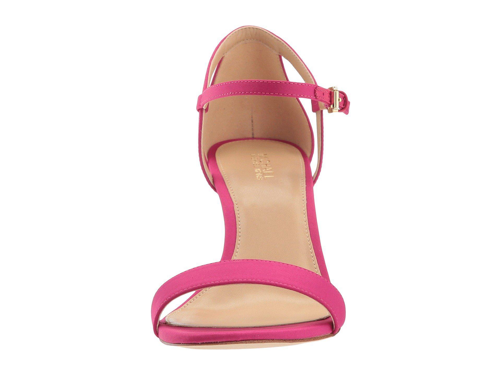 352cde6077e Lyst - MICHAEL Michael Kors Simone Mid Sandal in Pink