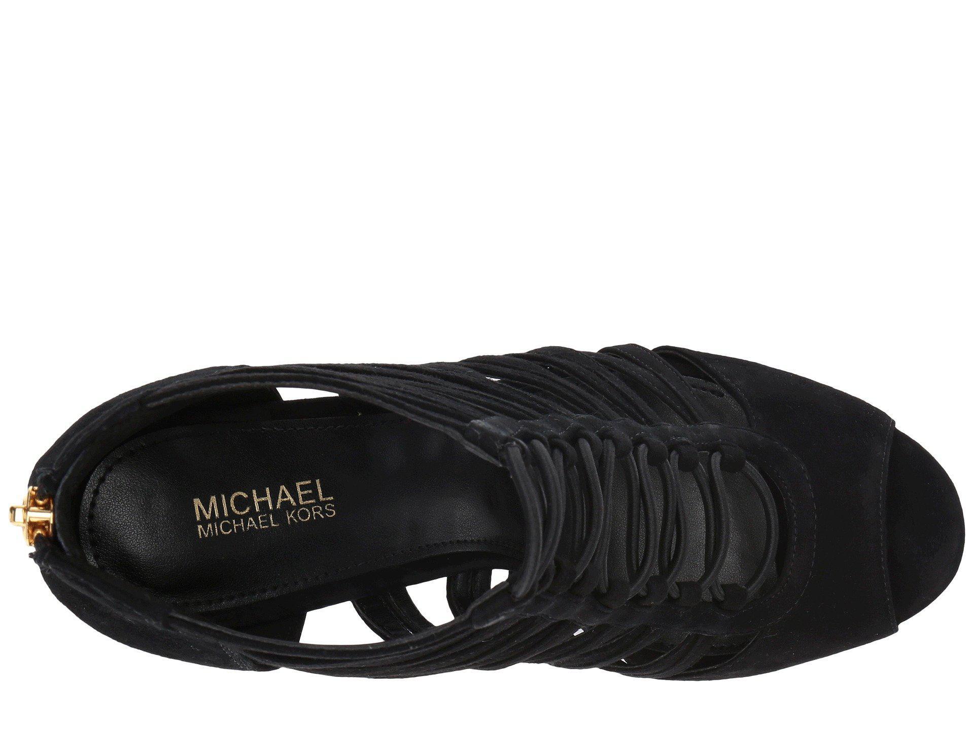 33a85758c7d Lyst - MICHAEL Michael Kors Clarissa Platform in Black