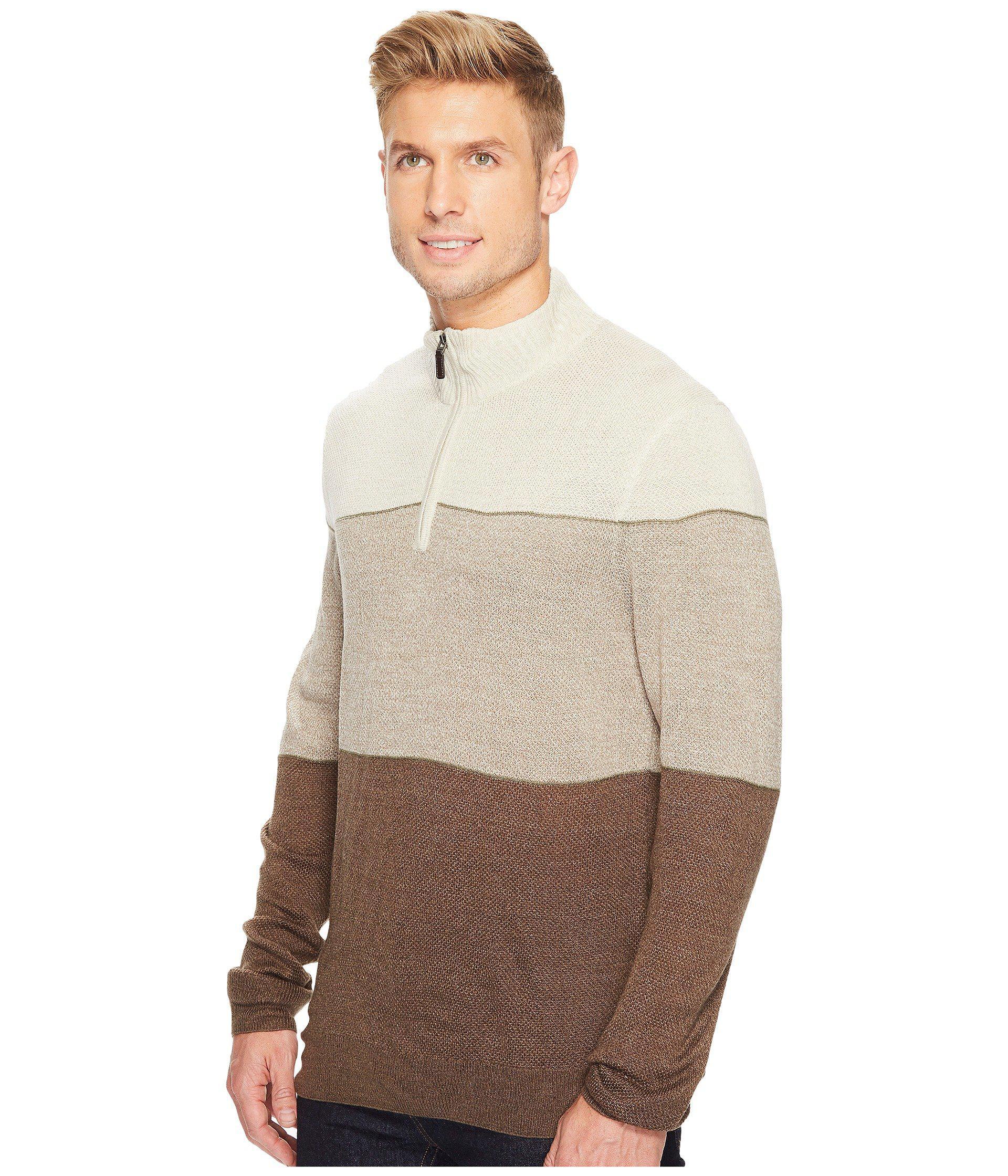 b60b595941f3 Lyst - Dockers Soft Acrylic Yarn-dye 1 4 Zip in Brown for Men - Save  33.33333333333333%