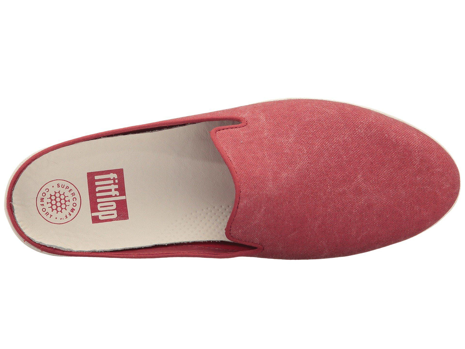 ce74e881e Lyst - Fitflop Superskate Slip-ons in Red - Save 43%