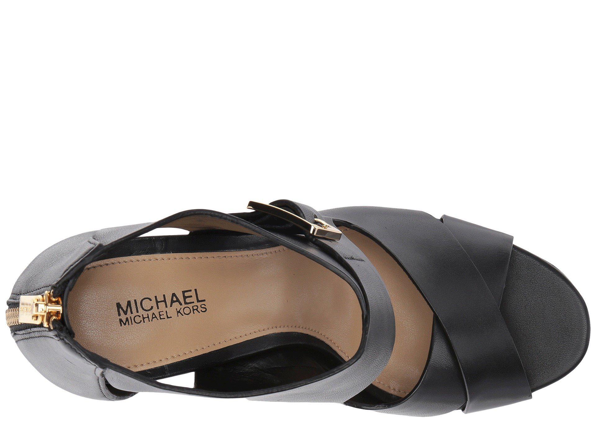95bdaceac0e Lyst - MICHAEL Michael Kors Kimber Platform in Black