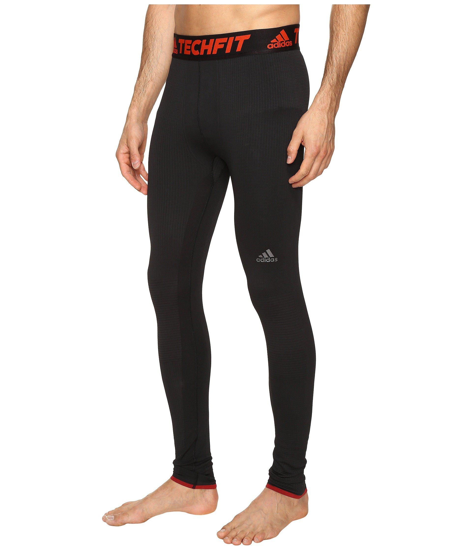 c08c3b886b5c9 adidas Techfit Climaheat® Tights in Black for Men - Lyst
