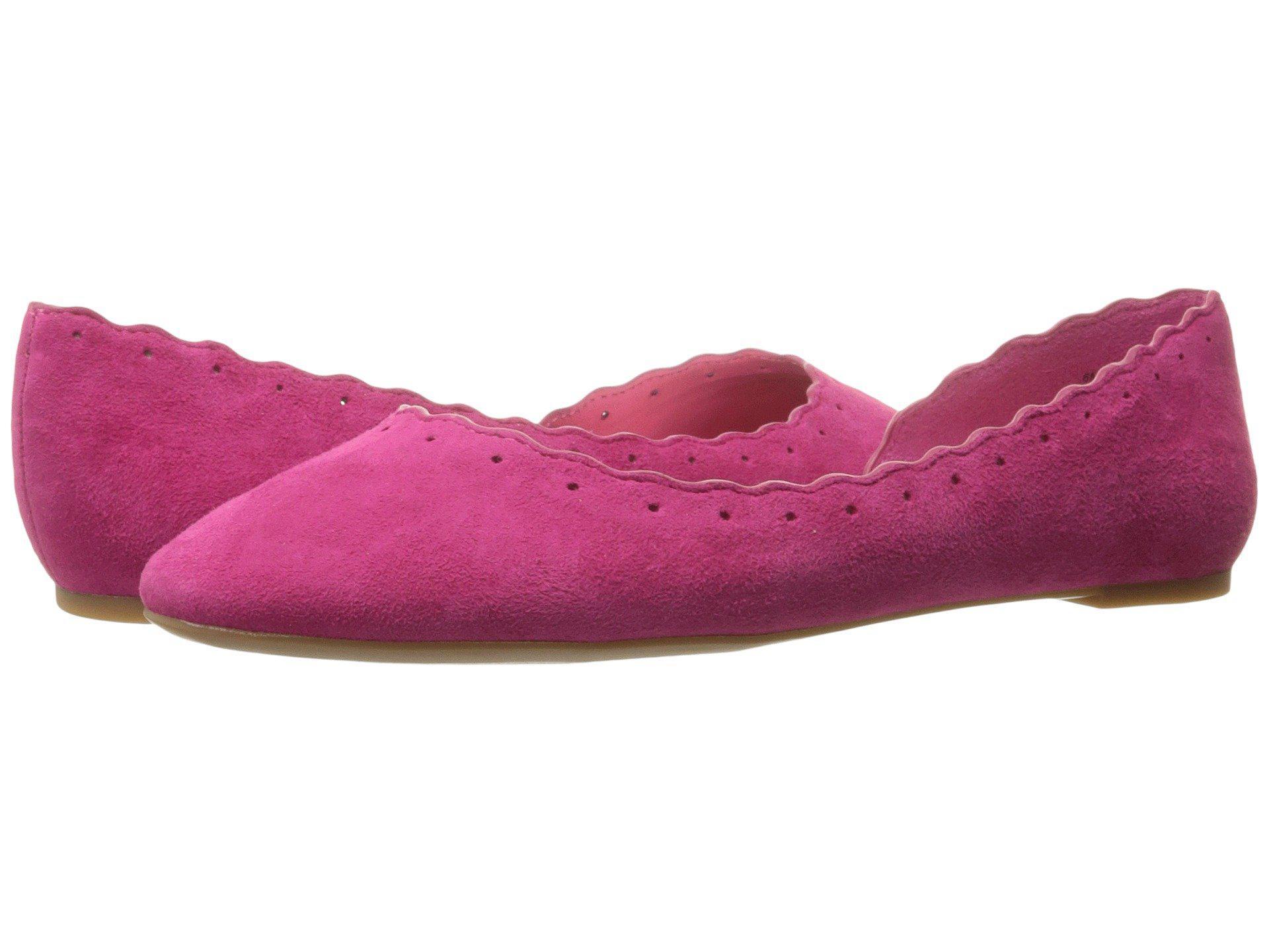 8092c01b7f01b Lyst - Nine West Mai Suede Ballet Flat in Pink