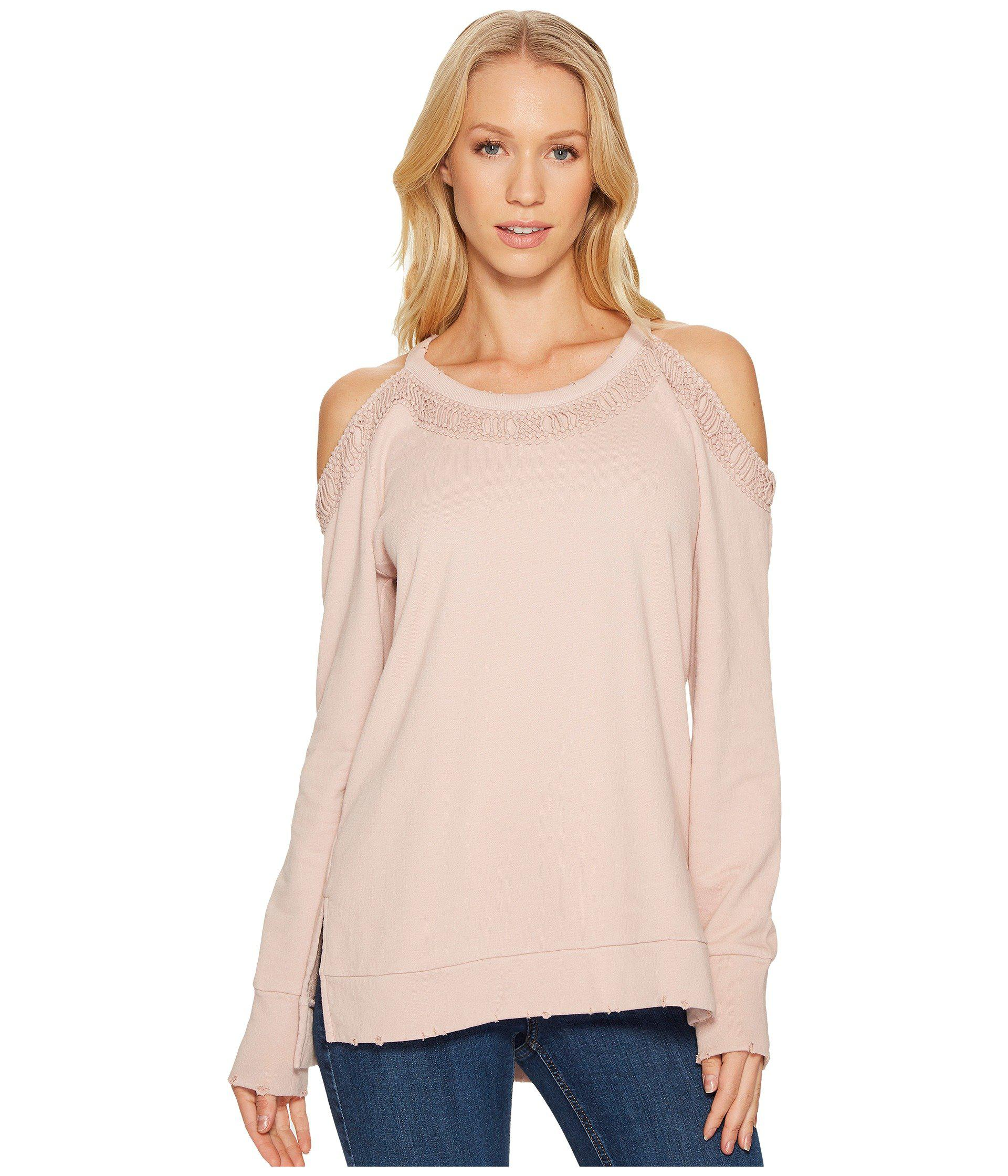 15912293e8b0b Lyst - Joe s Jeans Cold Shoulder Top in Pink - Save 36.231884057971016%