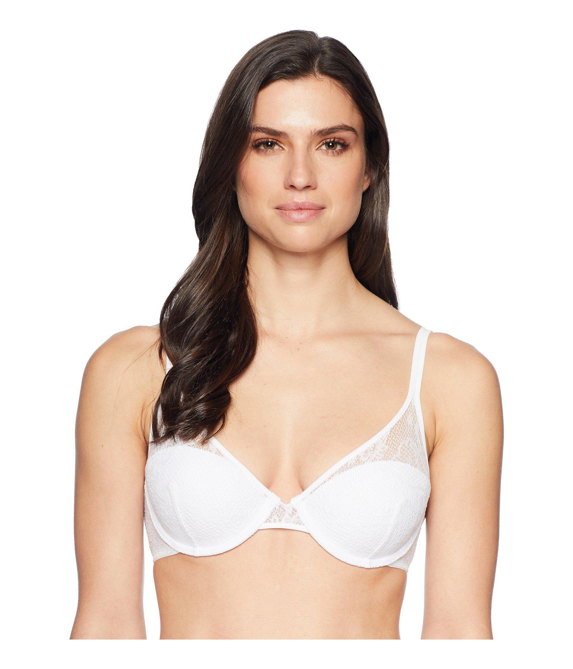 651822493c2 Lyst - On Gossamer Racy Lace Demi Bra G3160 in White - Save 13%