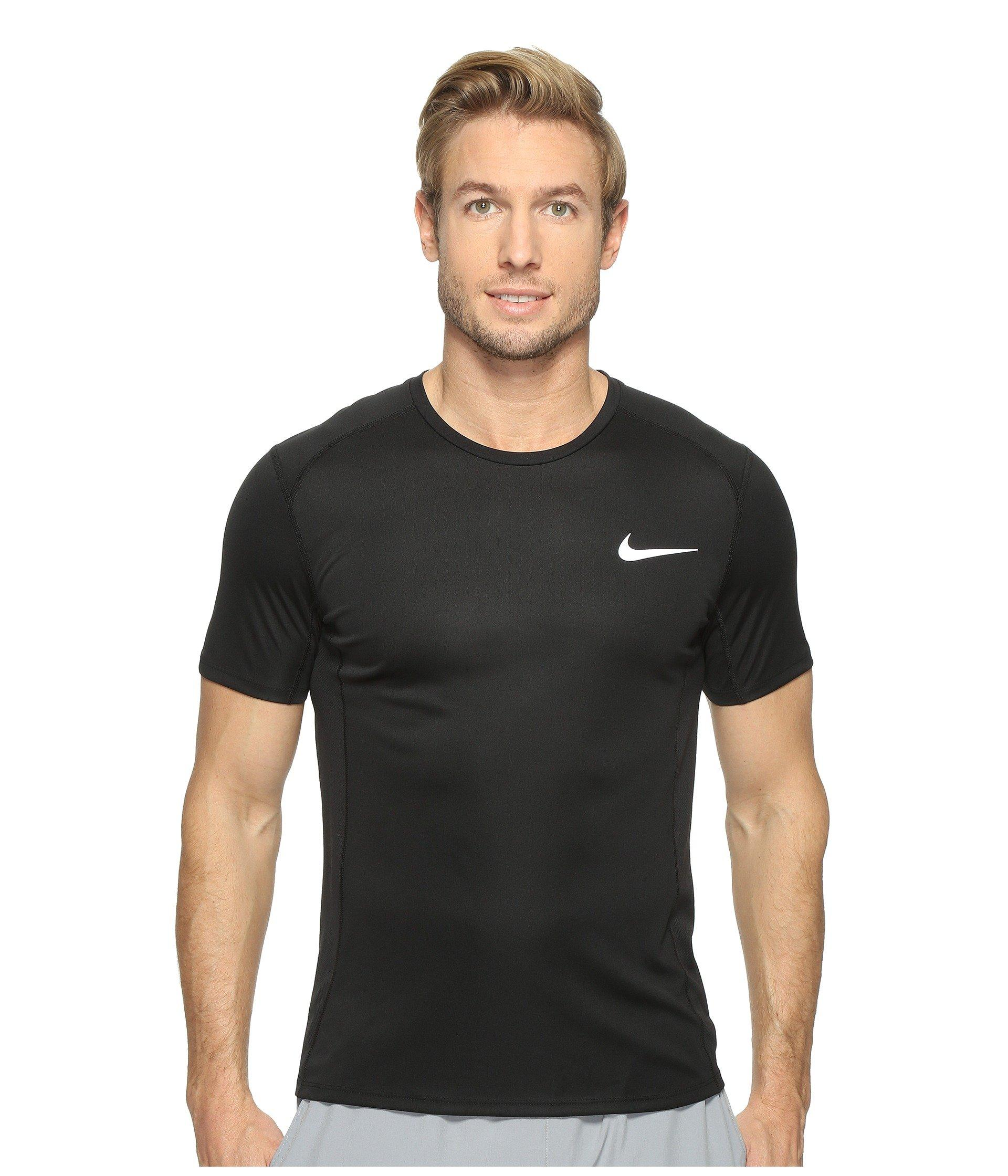 8d1f31b12201 Lyst - Nike Dry Miler Short Sleeve Running Top in Black for Men ...