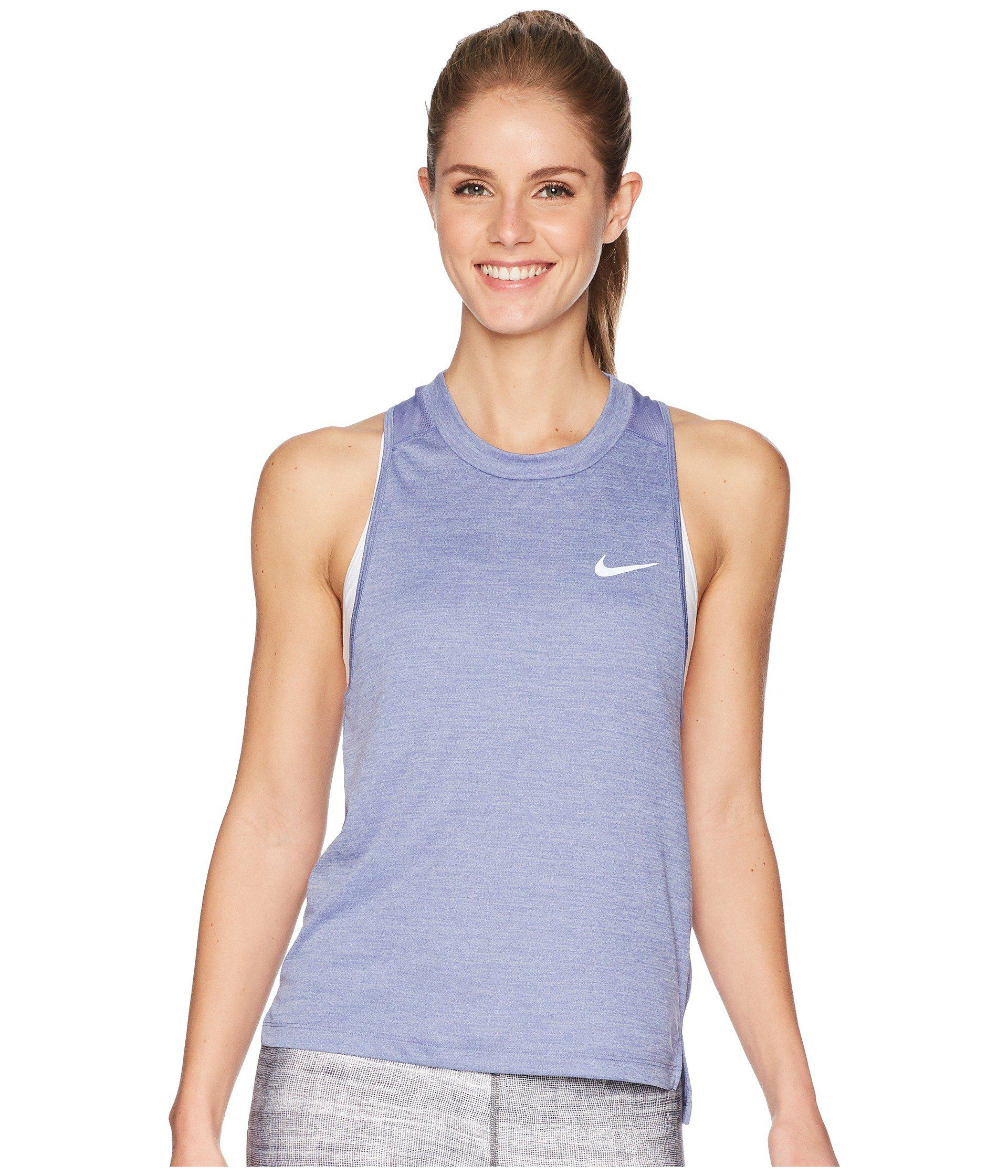 567f0b261dd98f Lyst - Nike Dry Miler Running Tank in Purple - Save 14%