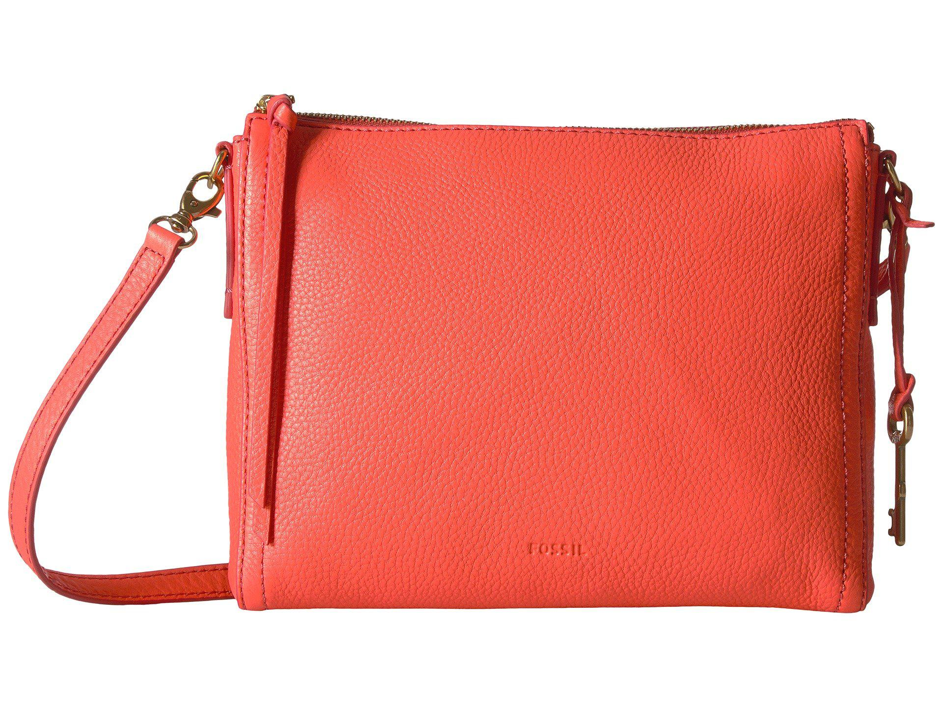 31788d8119a5 Lyst - Fossil Emma East west Crossbody in Red