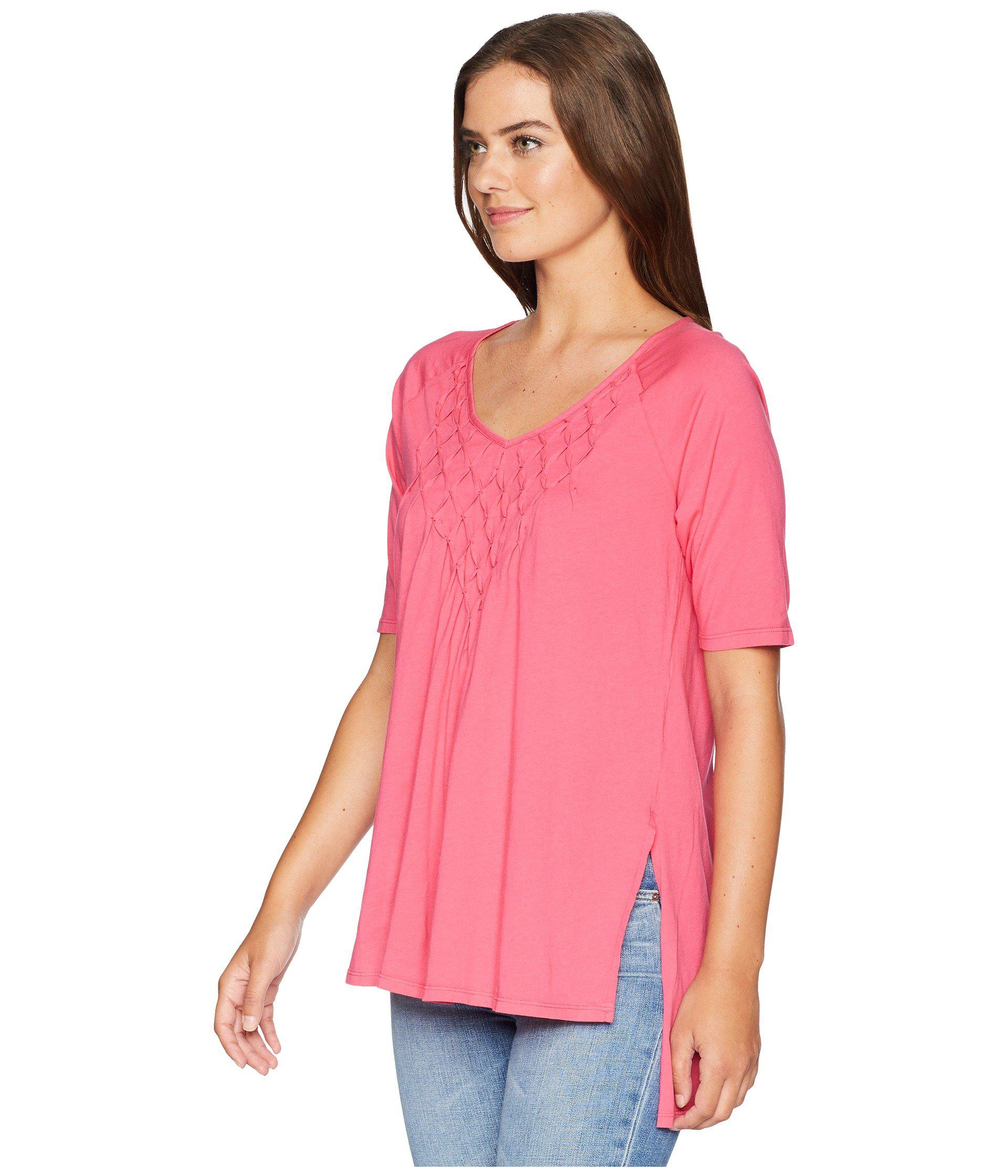 0f958cda073b Lyst - Mod-o-doc Supreme Jersey Diamond Pintuck Tunic in Pink - Save 50%