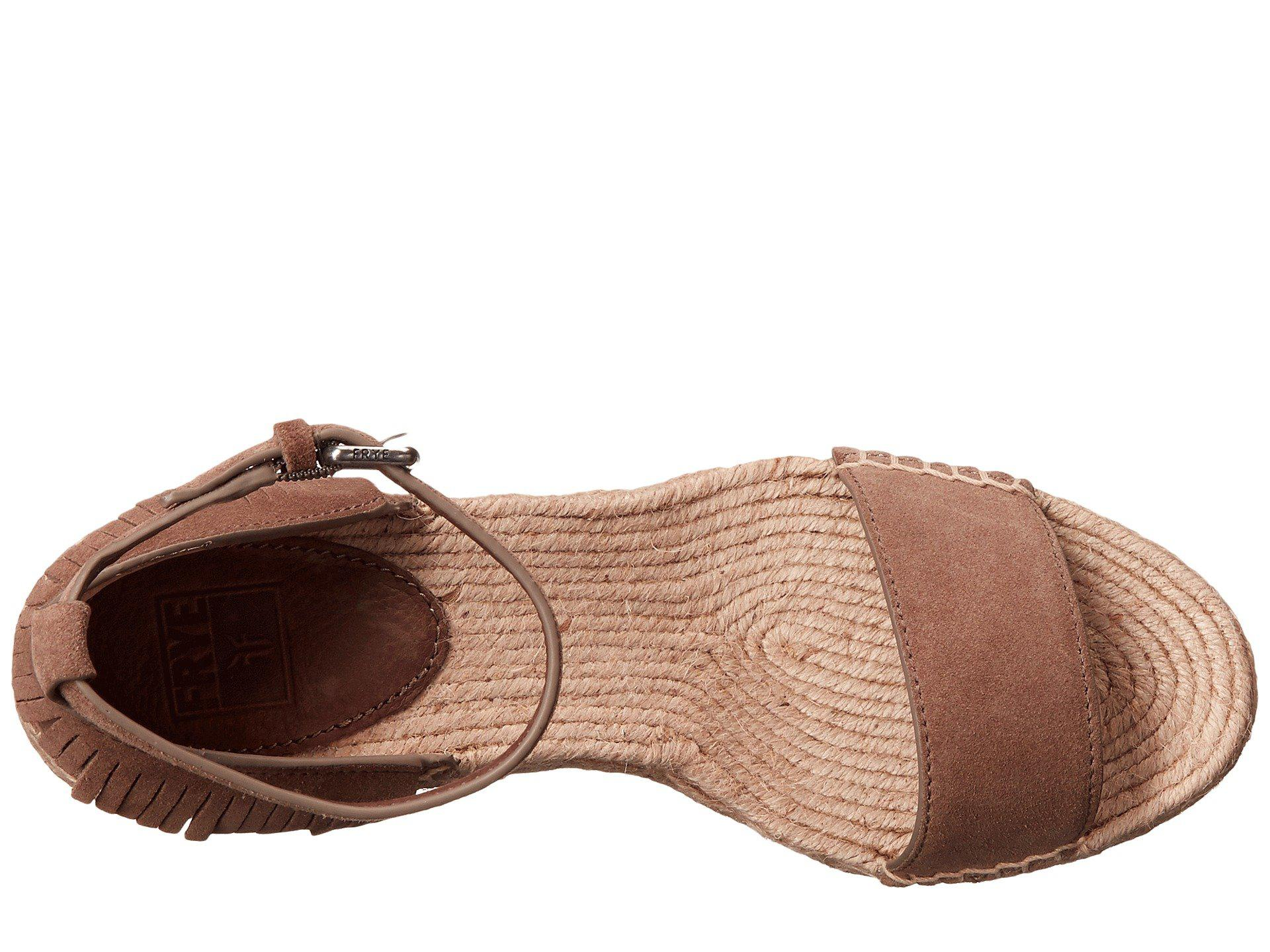 Frye Brown Lila Feather Wedge